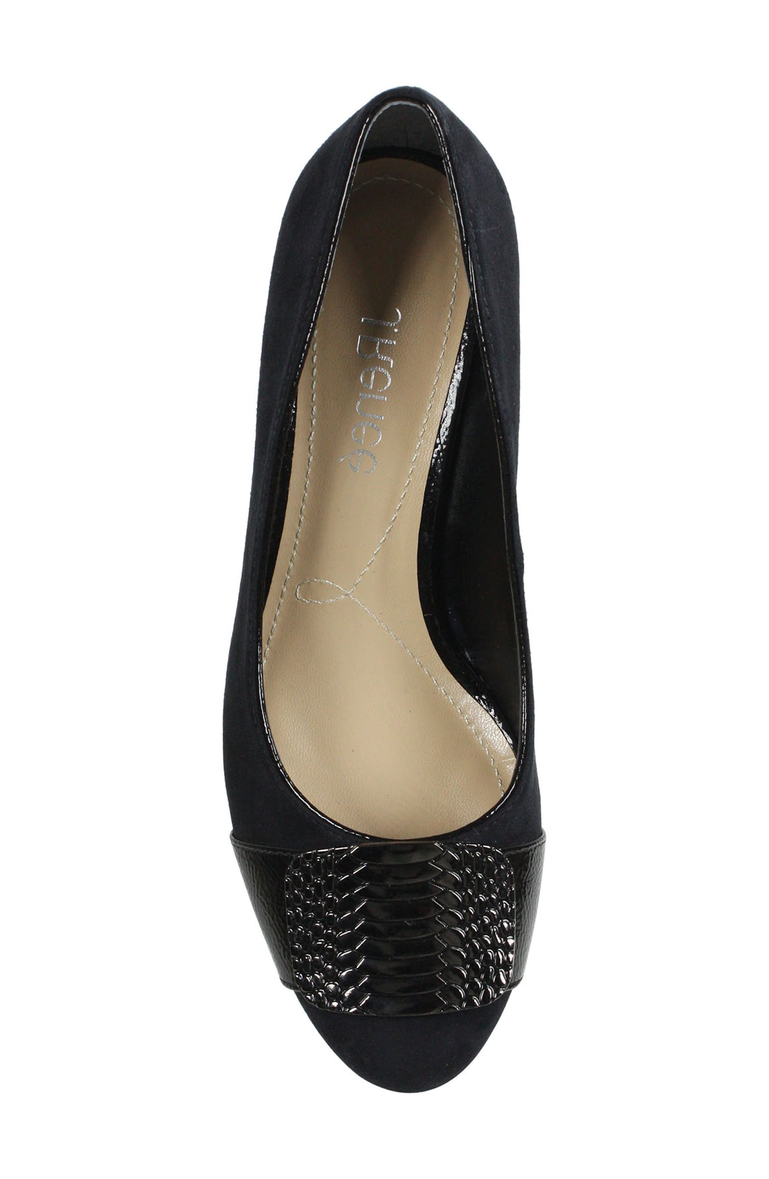 Langeley Pump,                             Alternate thumbnail 5, color,                             BLACK FABRIC