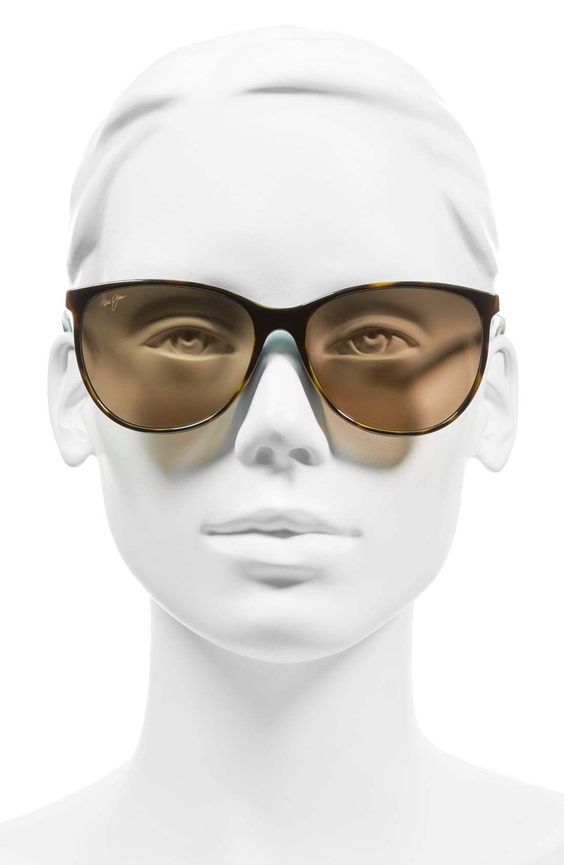 Ocean 57mm PolarizedPlus2<sup>®</sup> Sunglasses,                             Alternate thumbnail 3, color,                             TORTOISE/ PEACOCK/ HCL BRONZE