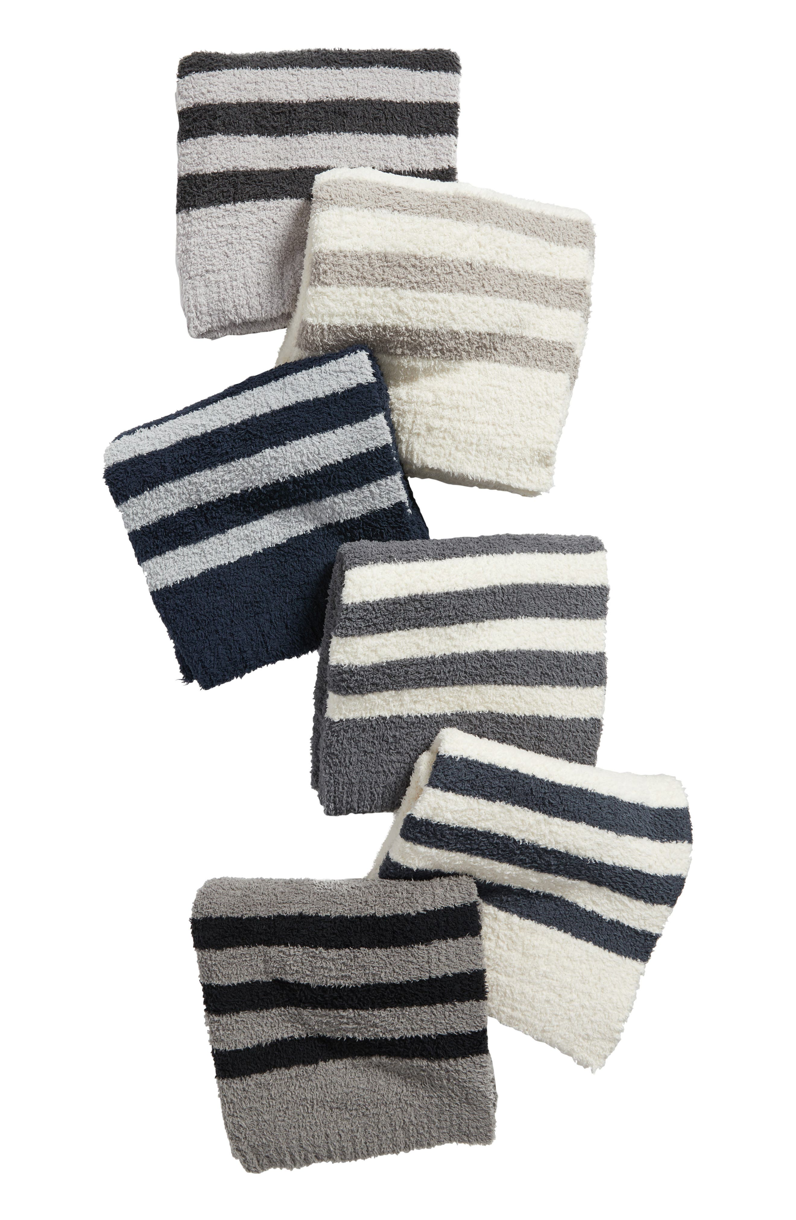 Barefoot Dreams Cozychic<sup>®</sup> Tri Stripe Throw Blanket,                             Alternate thumbnail 13, color,