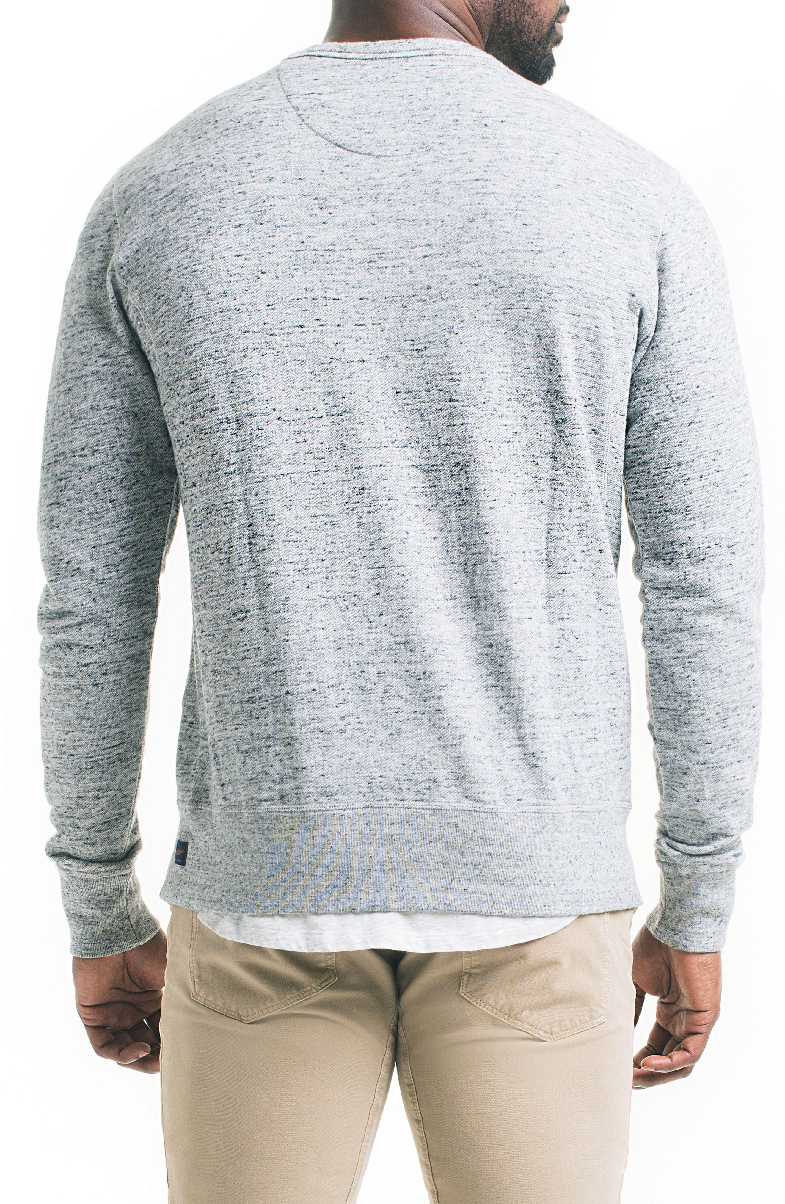 Varsity Slim Slub Sweatshirt,                             Alternate thumbnail 2, color,