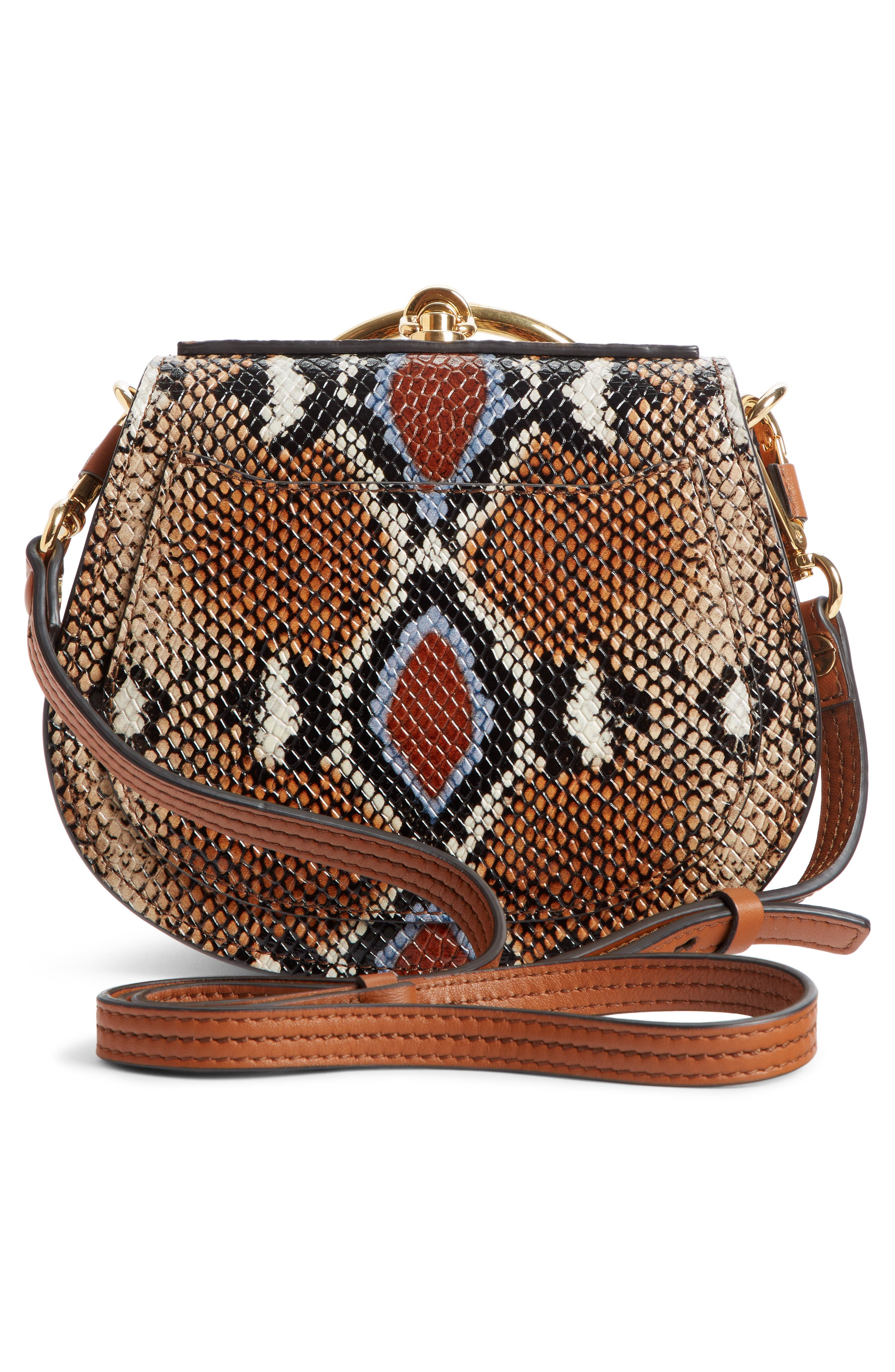 Small Nile Python Embossed Leather Crossbody Bag,                             Alternate thumbnail 4, color,                             210