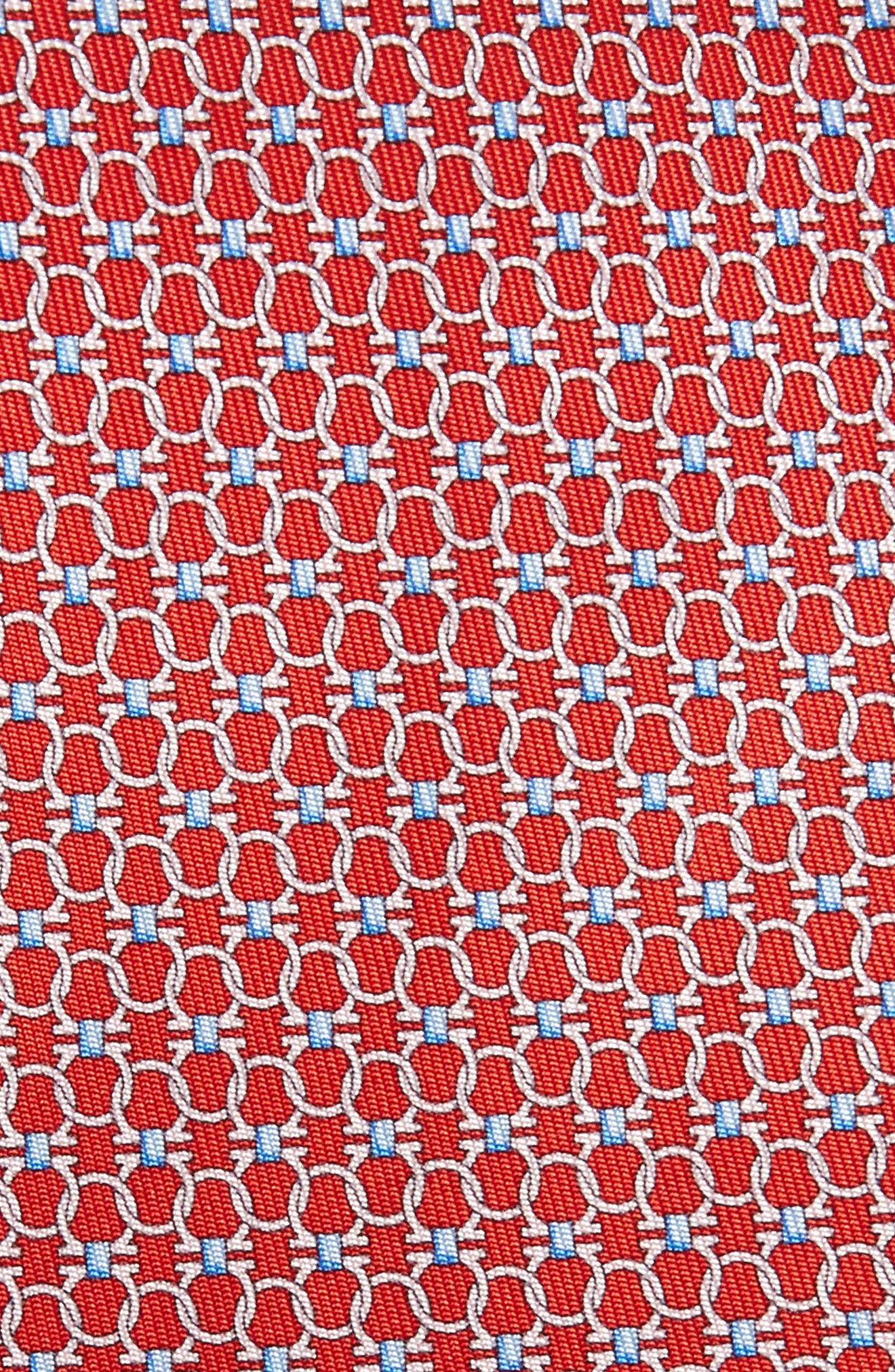 Geometric Silk Tie,                             Alternate thumbnail 2, color,                             RED