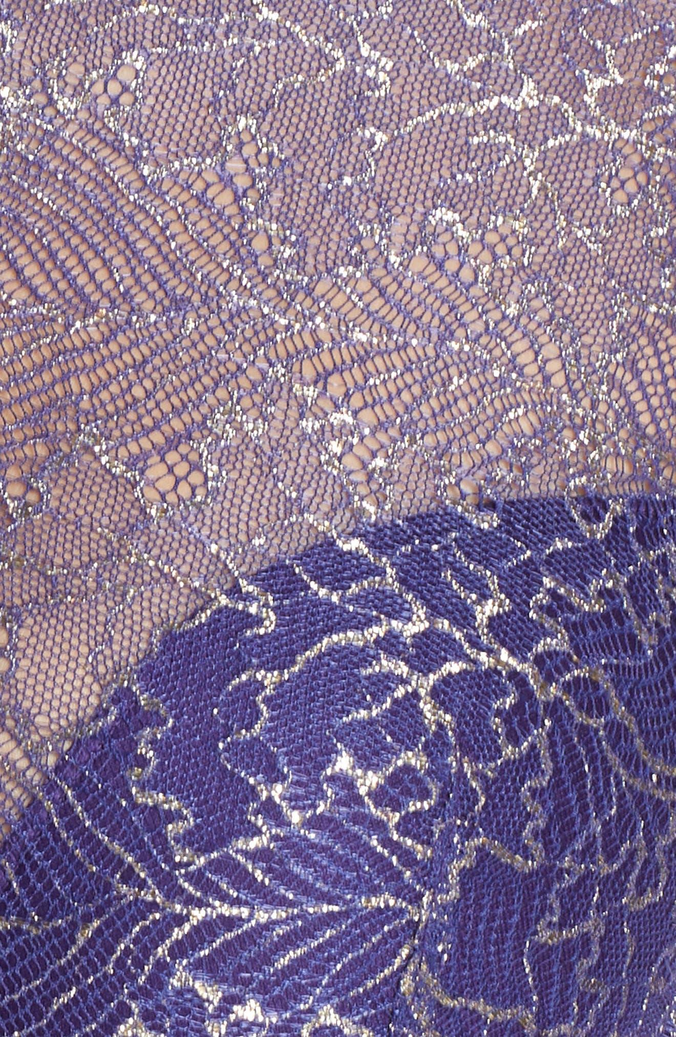 Lace Bralette,                             Alternate thumbnail 6, color,                             PARACHUTE PURPLE LUREX