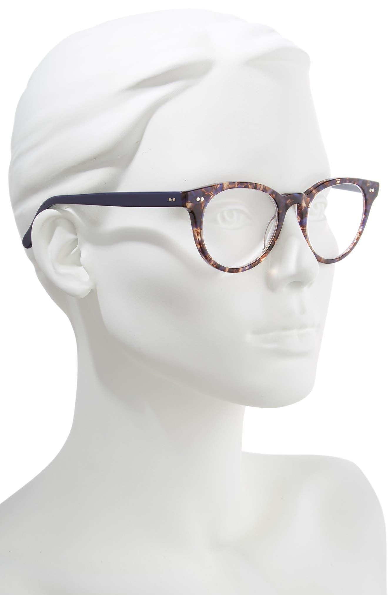 Abby 50mm Reading Glasses,                             Alternate thumbnail 2, color,                             TORTOISE/ NAVY BLUE