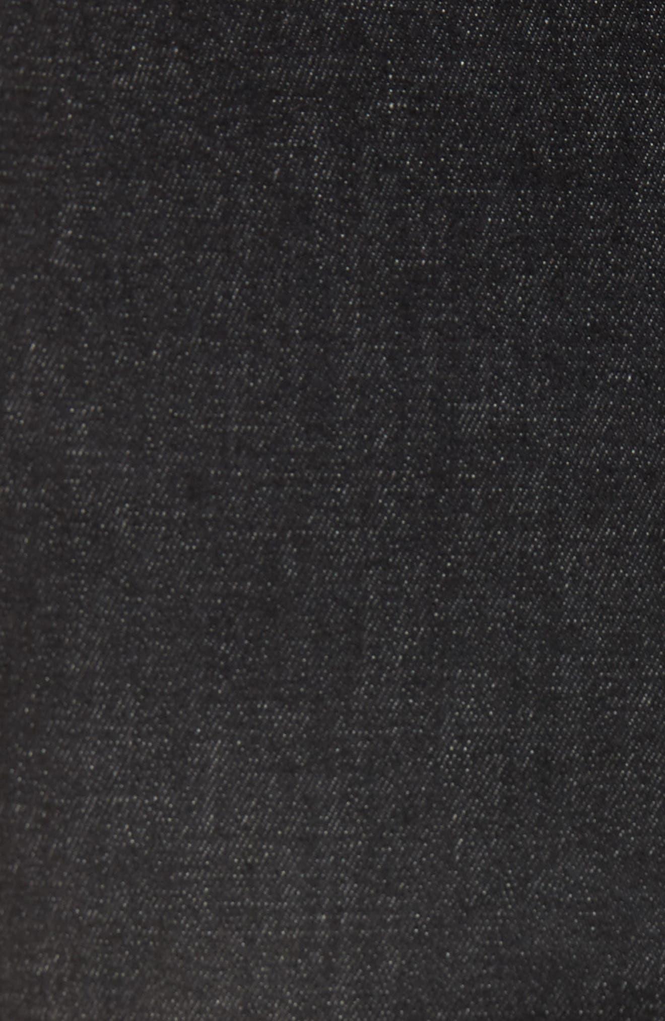 High Waist Embellished Denim Skimmer Leggings,                             Alternate thumbnail 5, color,                             BLACK WASH