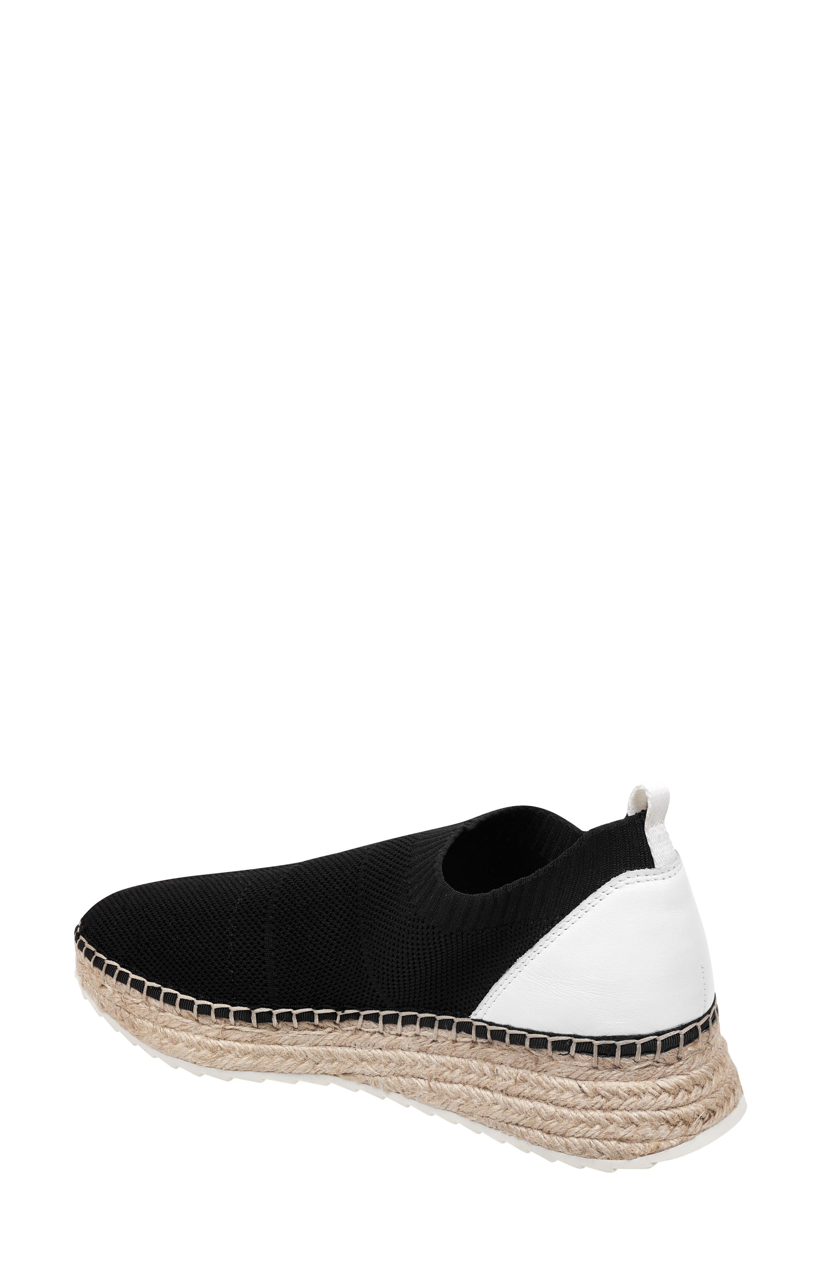 MARC FISHER LTD,                             Jilly Espadrille Sneaker,                             Alternate thumbnail 2, color,                             BLACK FABRIC