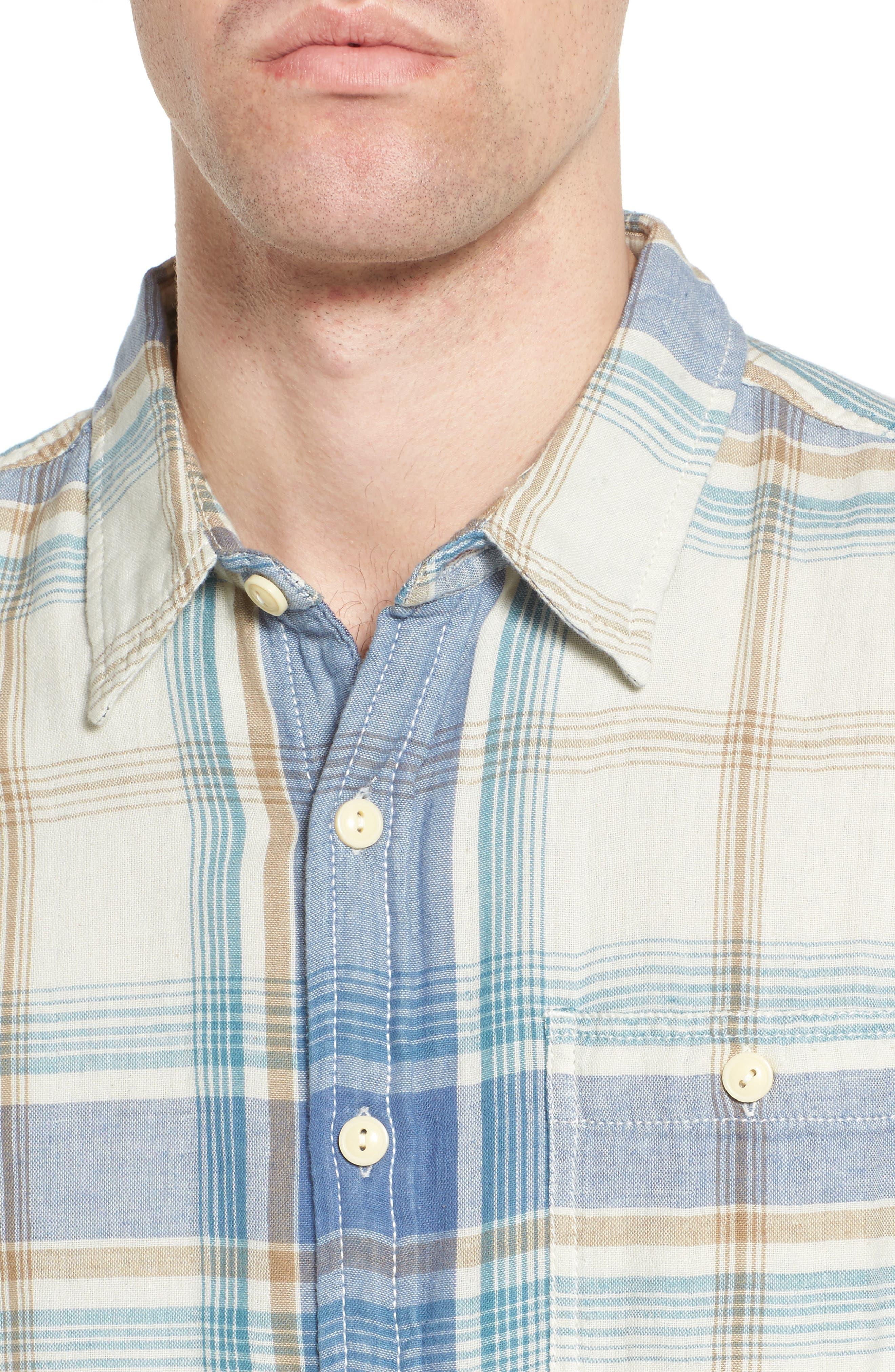 Maverick Plaid Sport Shirt,                             Alternate thumbnail 4, color,