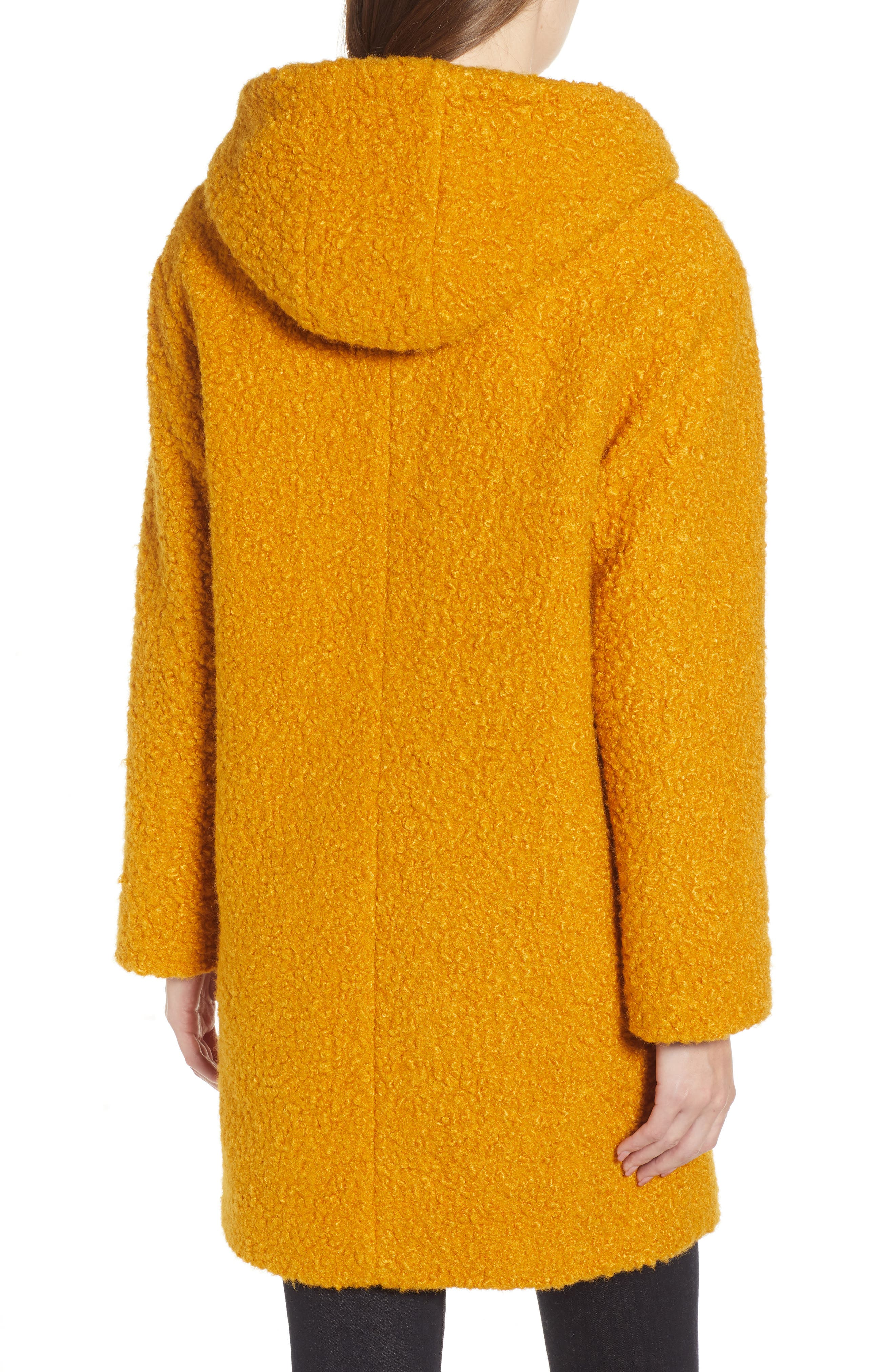 Hooded Coat,                             Alternate thumbnail 2, color,                             YELLOW TREASURE