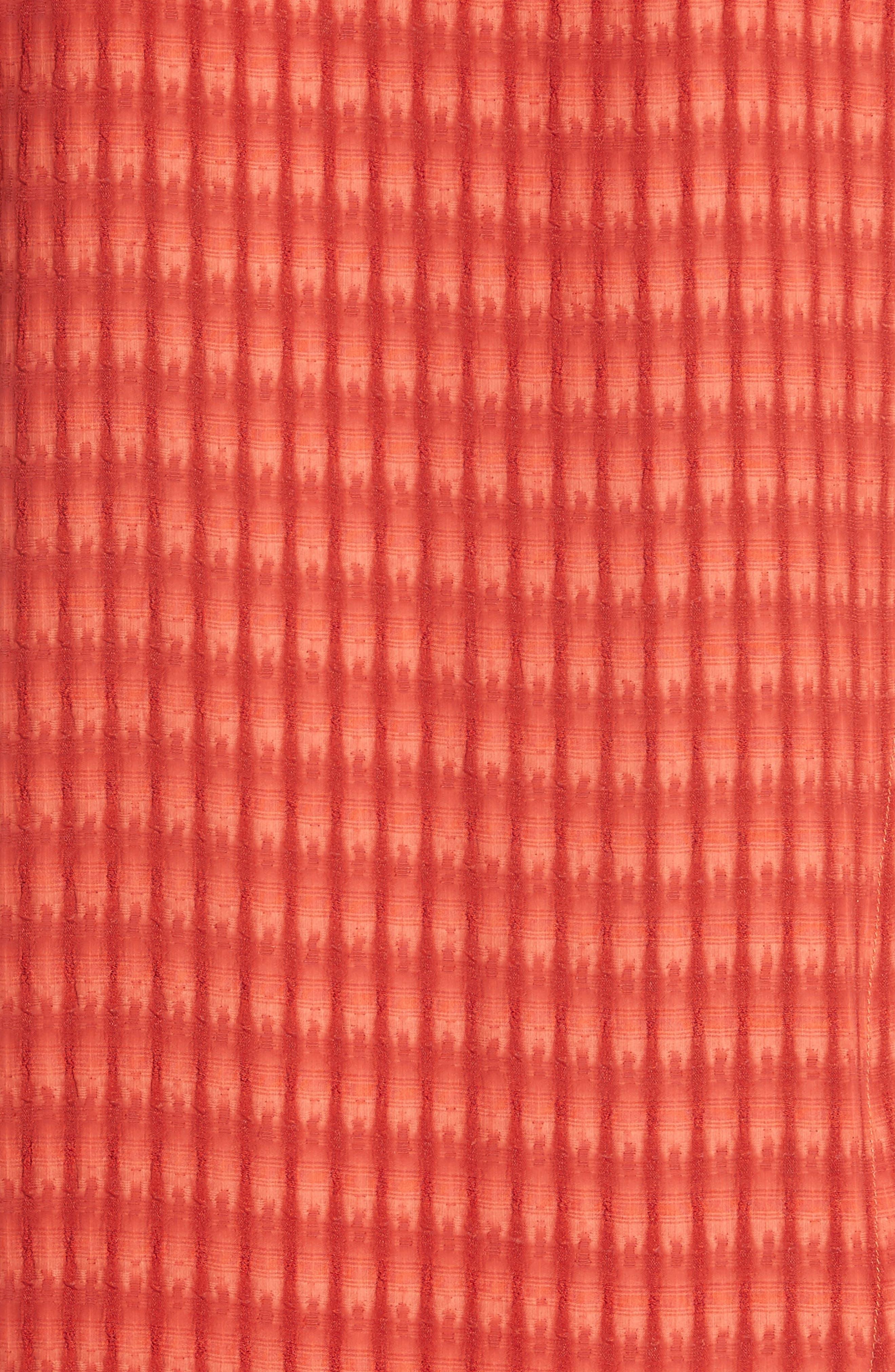 Twisted Tank Batik Plaid Dress,                             Alternate thumbnail 5, color,