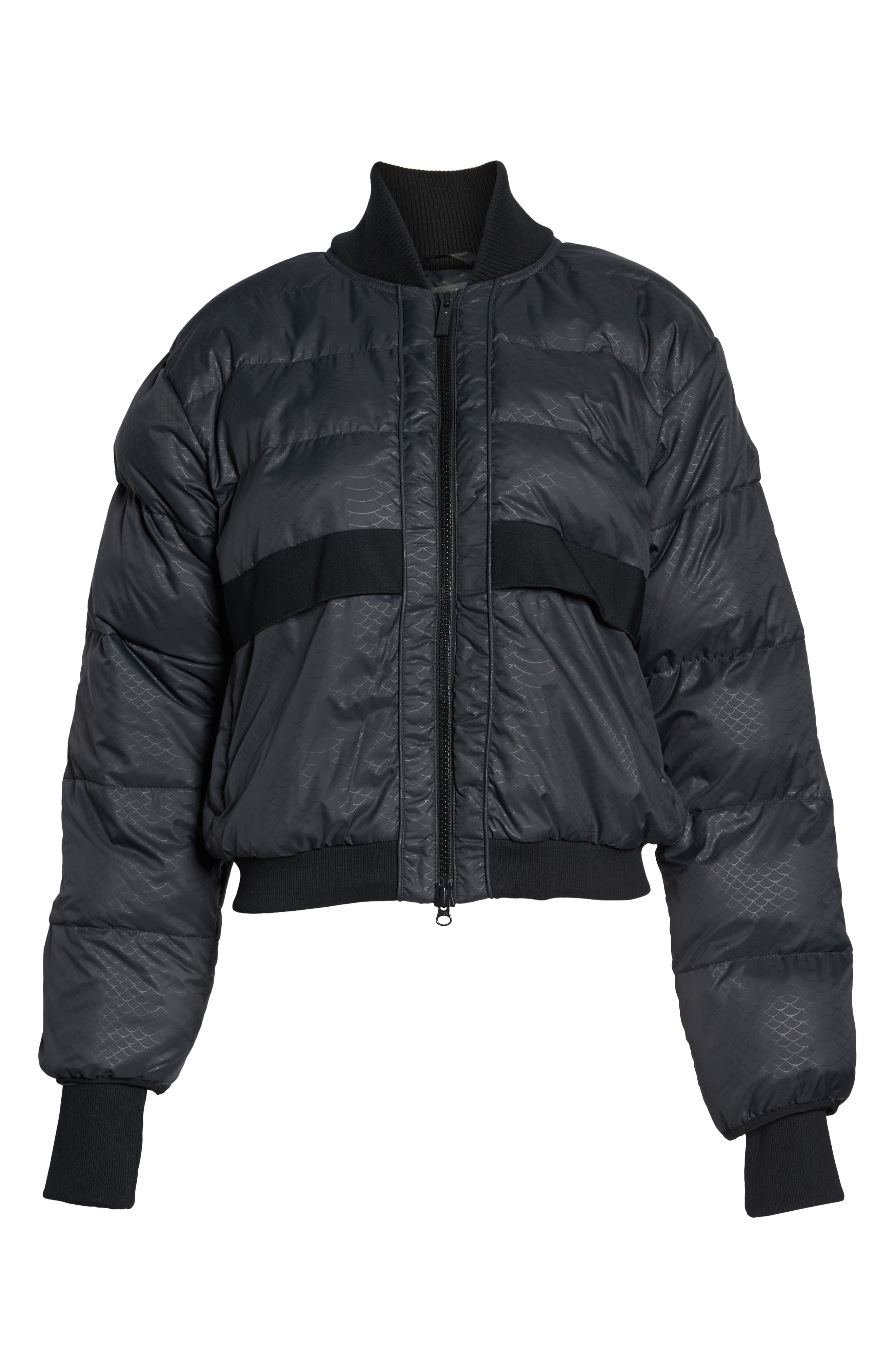 Crop Puffer Jacket,                             Alternate thumbnail 7, color,                             001