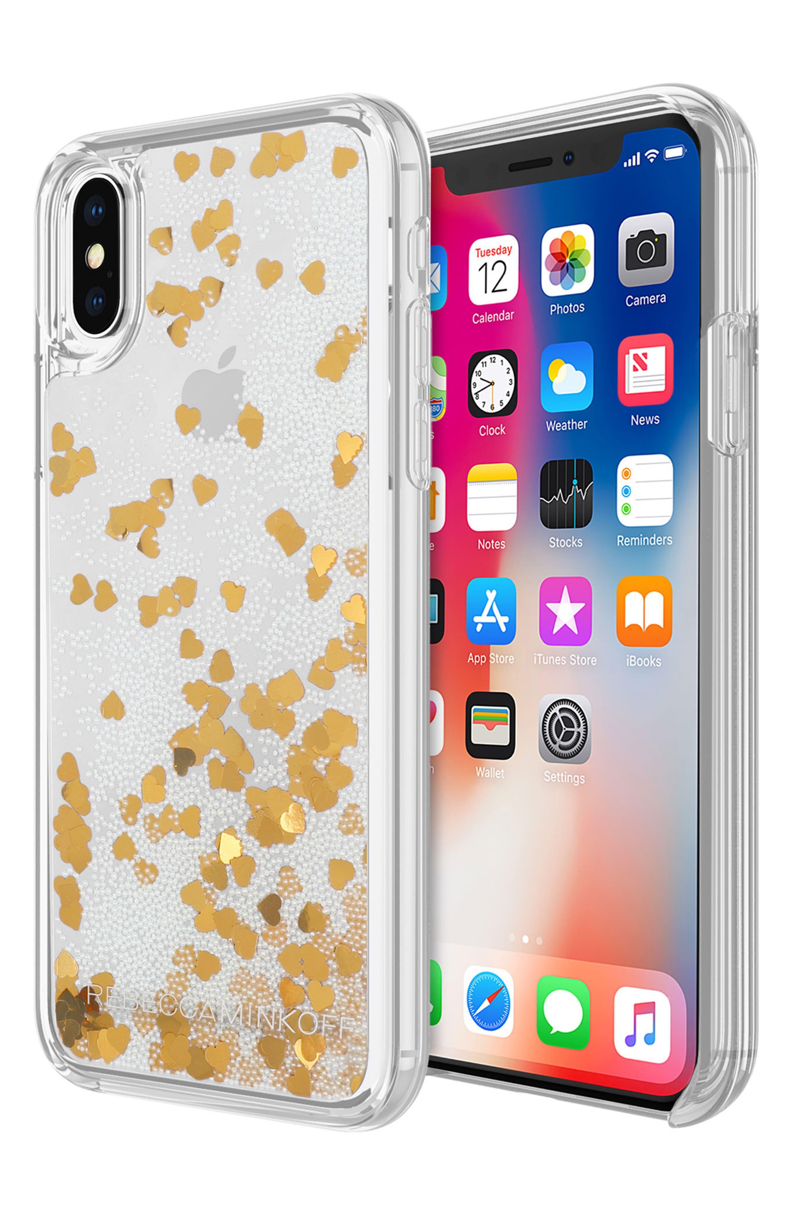 Glitterfall iPhone 8 Plus Case,                             Alternate thumbnail 7, color,