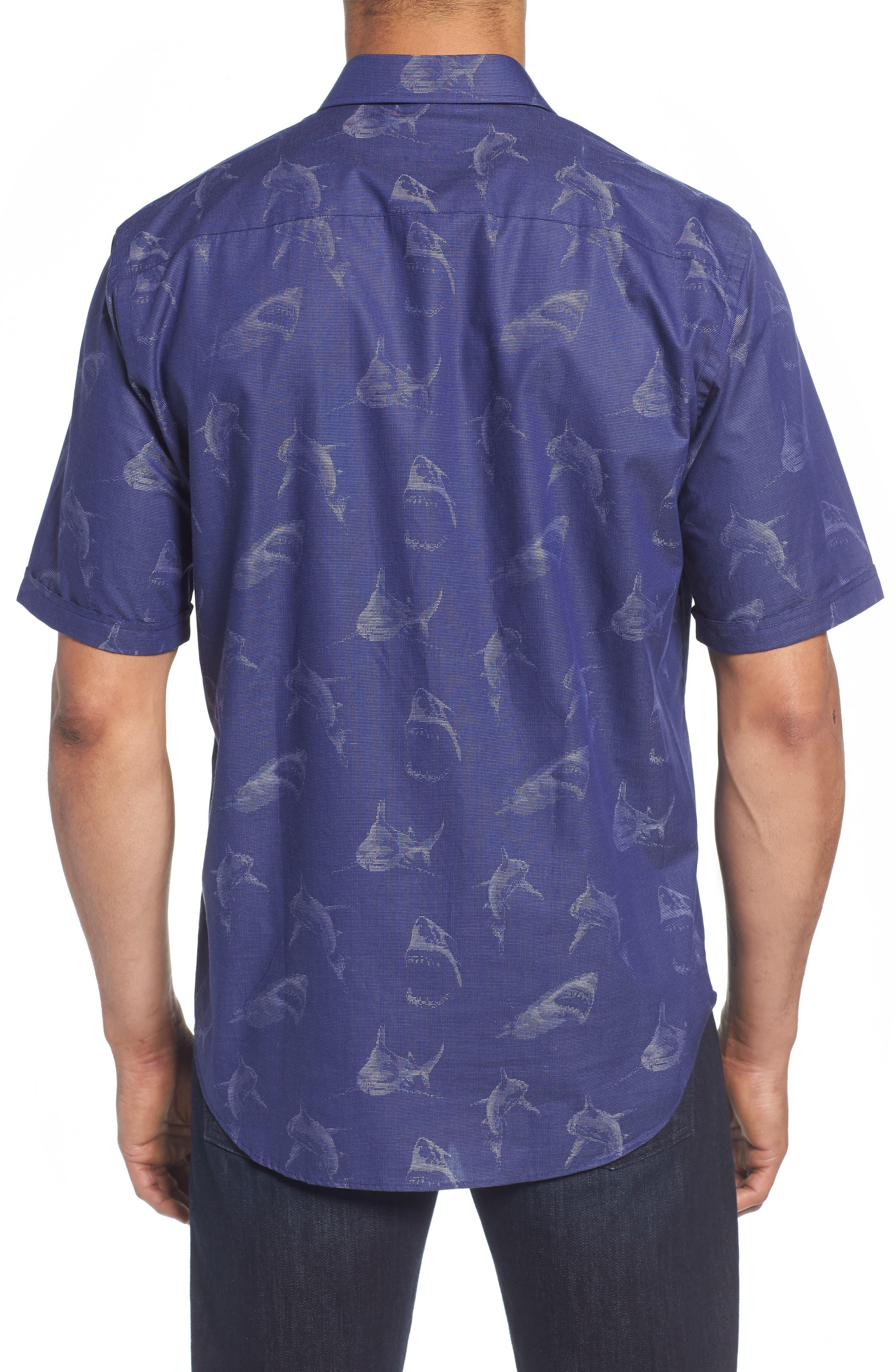 Classic Fit Shark Jacquard Sport Shirt,                             Alternate thumbnail 2, color,                             411