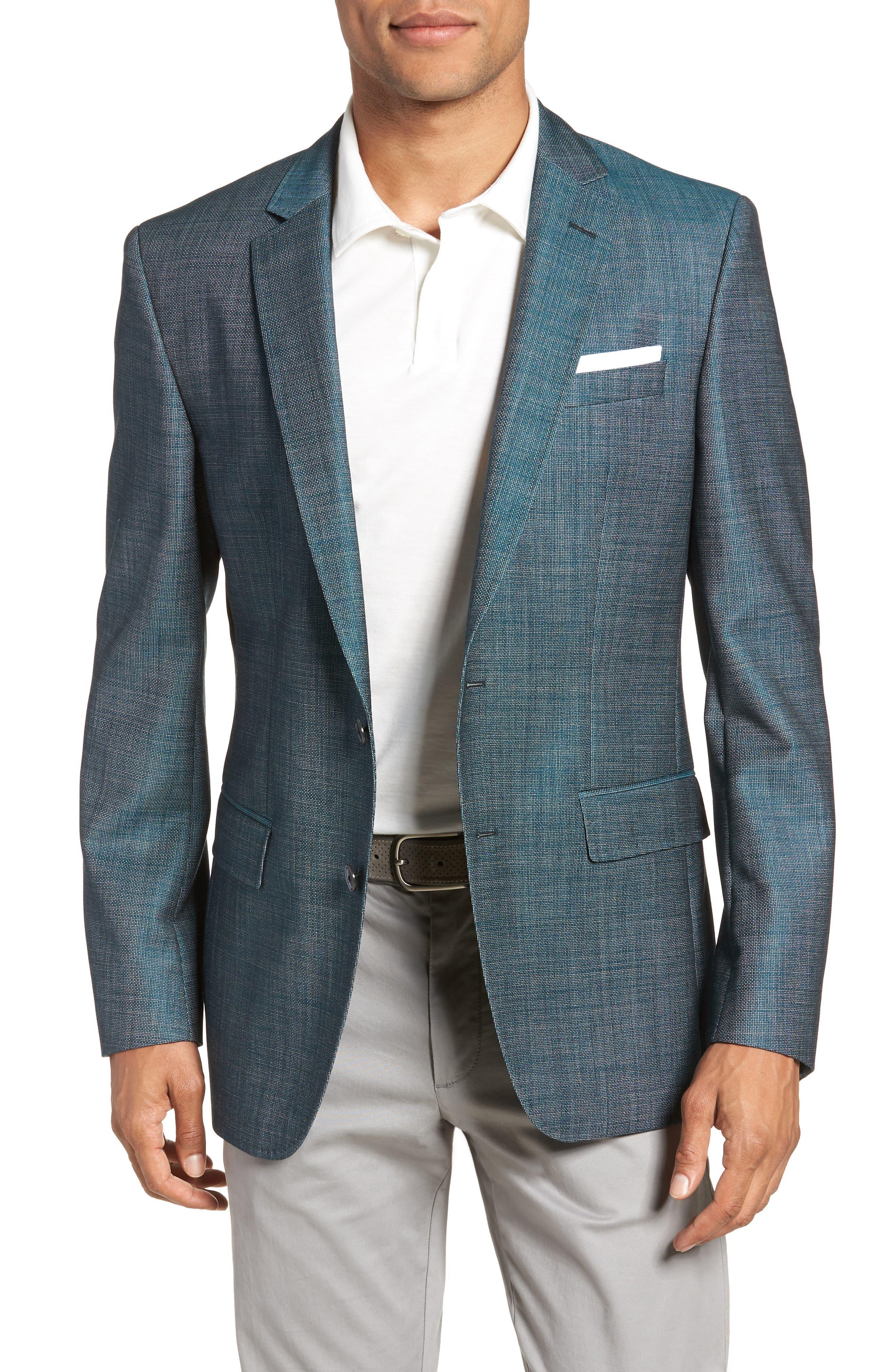 Hutsons Trim Fit Sport Coat,                         Main,                         color, GREEN