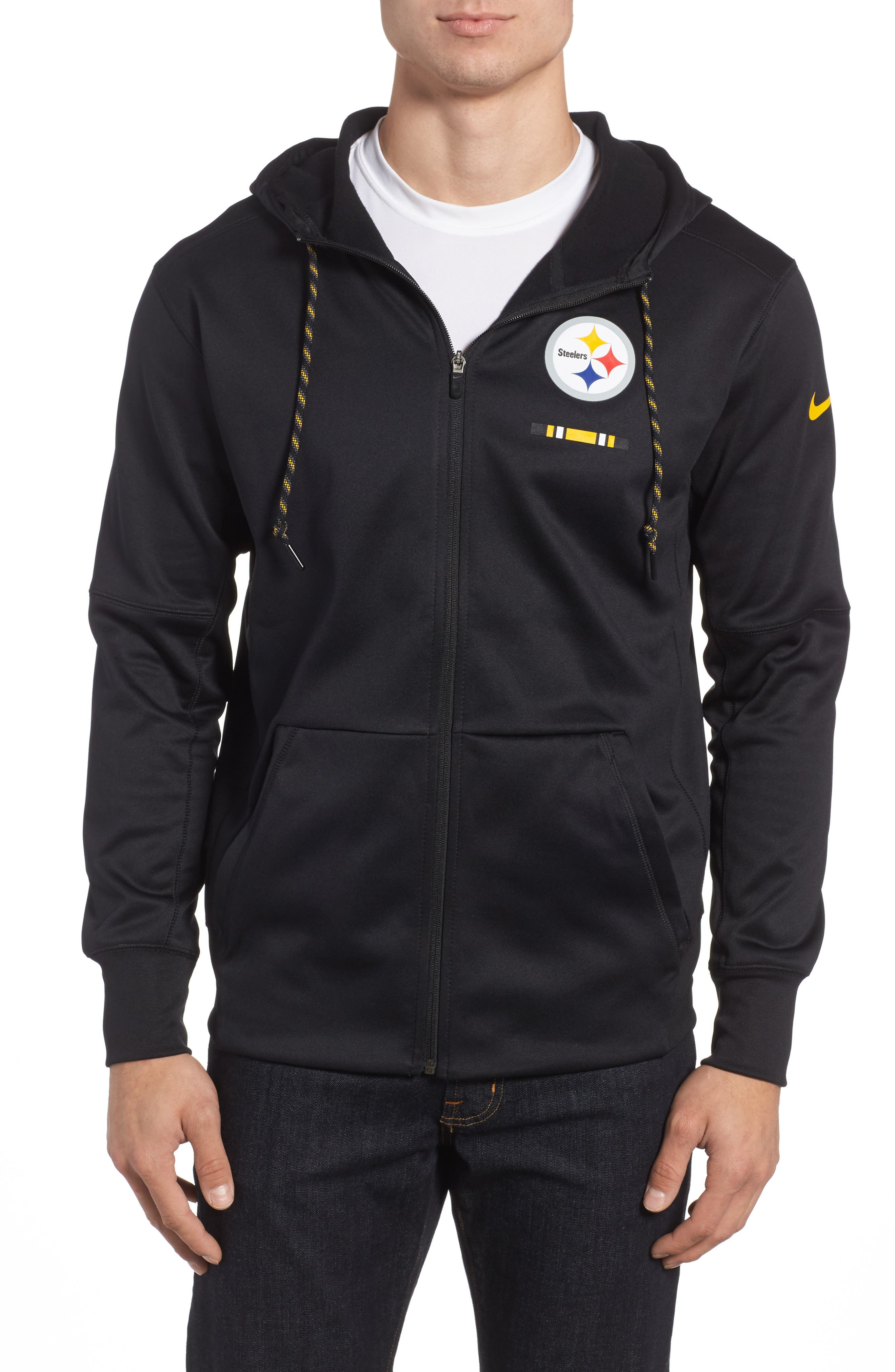Therma-FIT NFL Graphic Zip Hoodie,                             Main thumbnail 2, color,