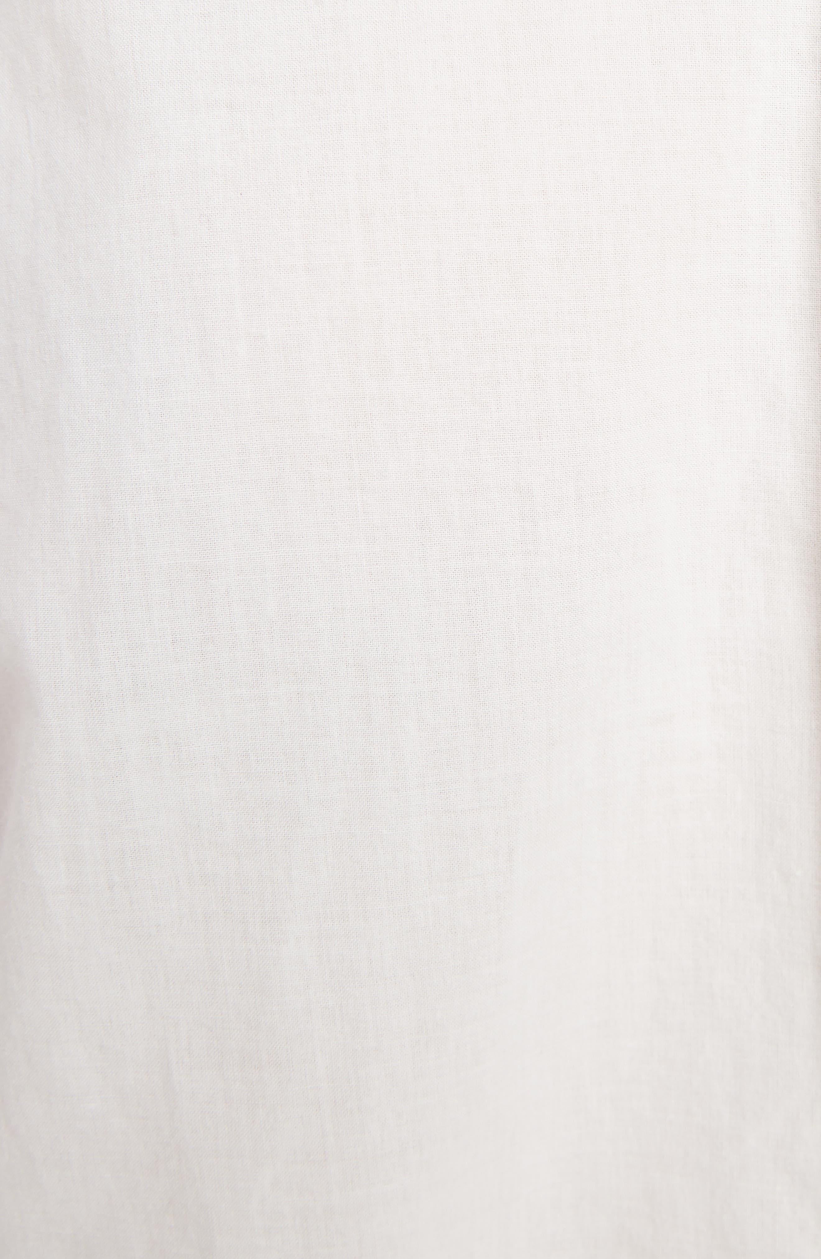 Tuck Long Blouse,                             Alternate thumbnail 5, color,                             WHITE