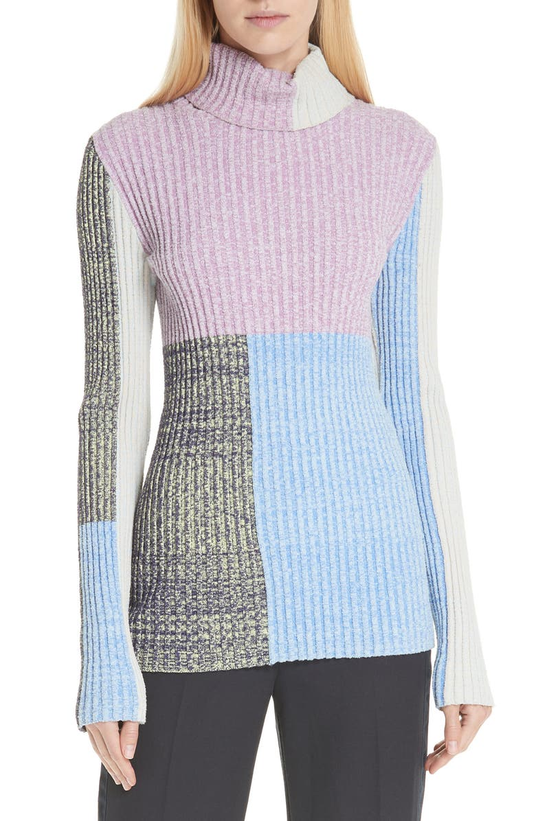 3.1 Phillip Lim Patchwork Ribbed Sweater | Nordstrom