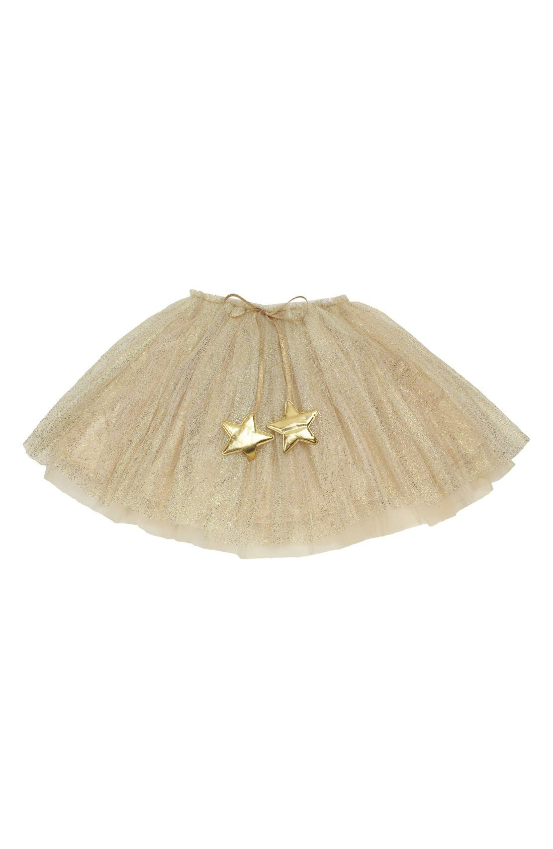 Gold Glitter Star Tutu,                             Main thumbnail 1, color,                             GOLD