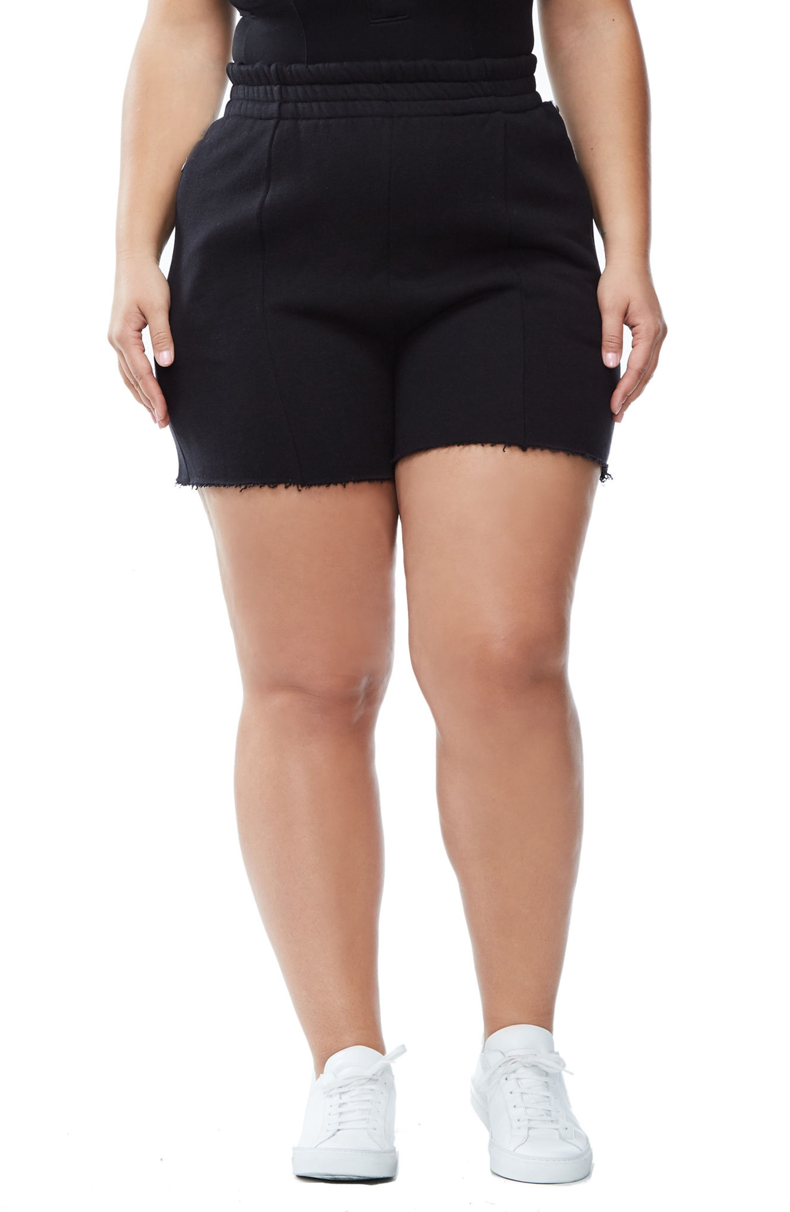 Good Sweats The High Waist Shorts,                             Main thumbnail 1, color,                             002