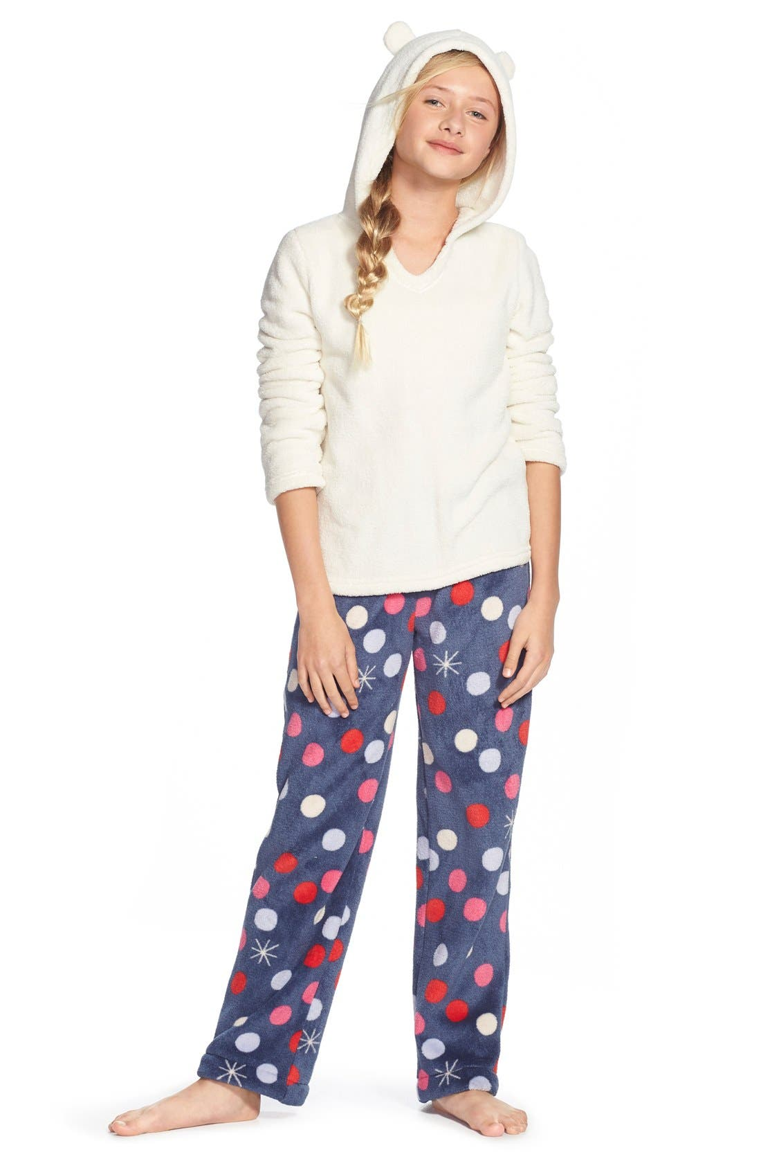 Fleece Pajama Pants,                             Alternate thumbnail 21, color,
