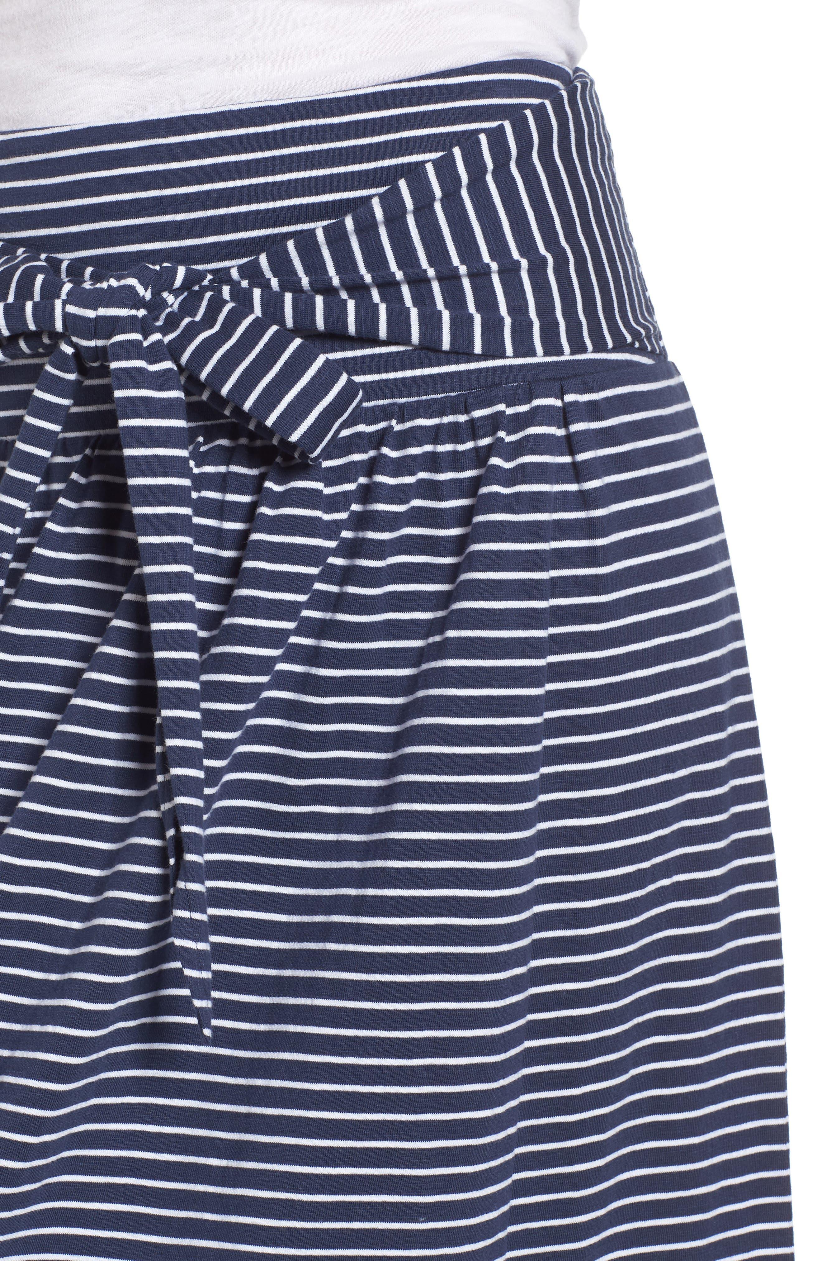 Tie Front Cotton Maxi Skirt,                             Alternate thumbnail 18, color,