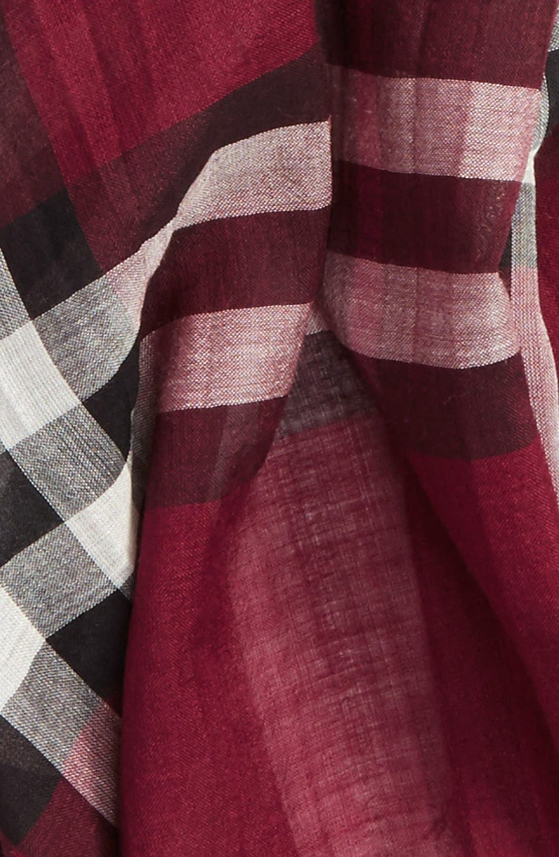 Giant Check Print Wool & Silk Scarf,                             Alternate thumbnail 154, color,