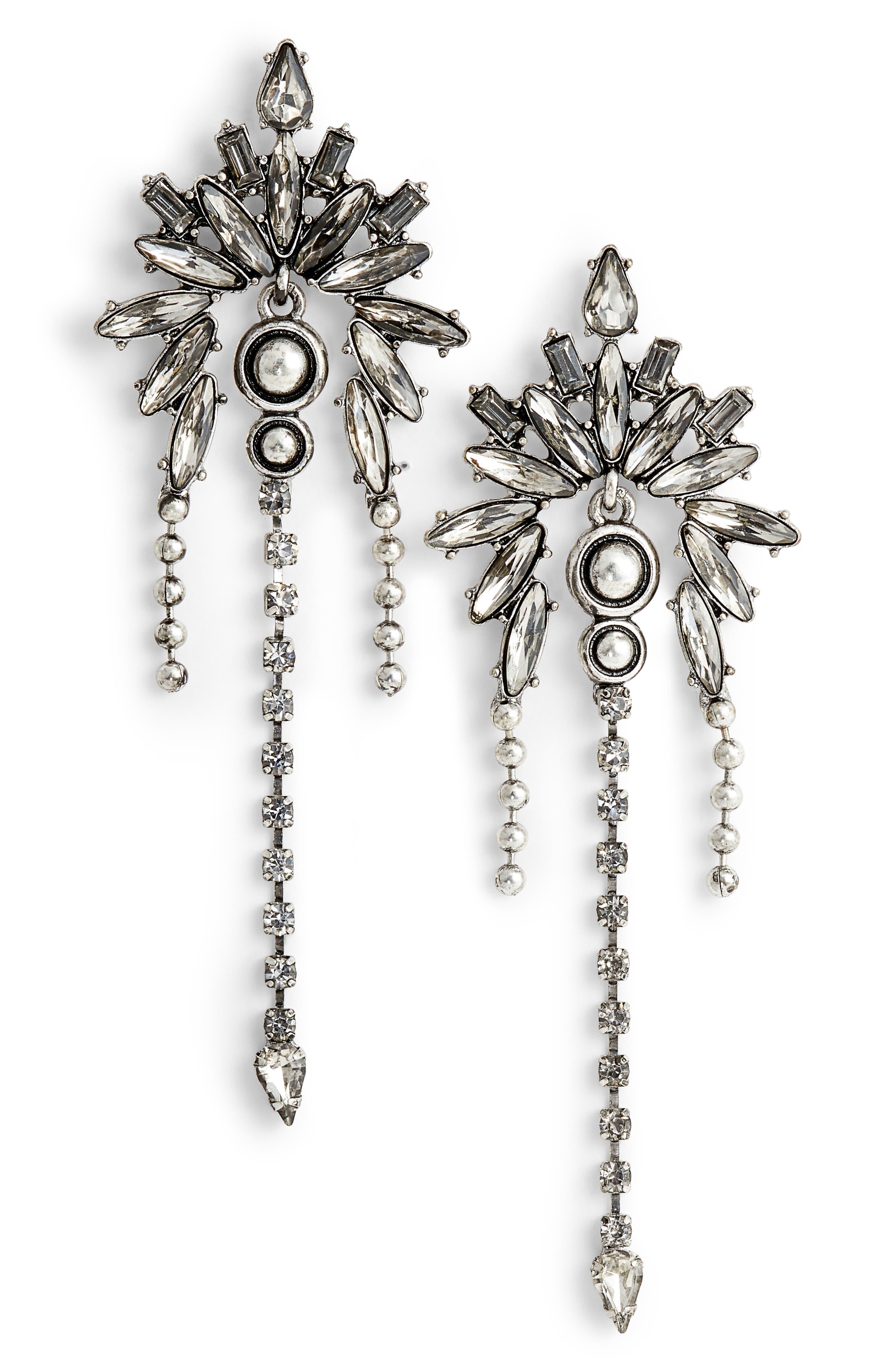 Crystal Chandelier Earrings,                         Main,                         color, 040