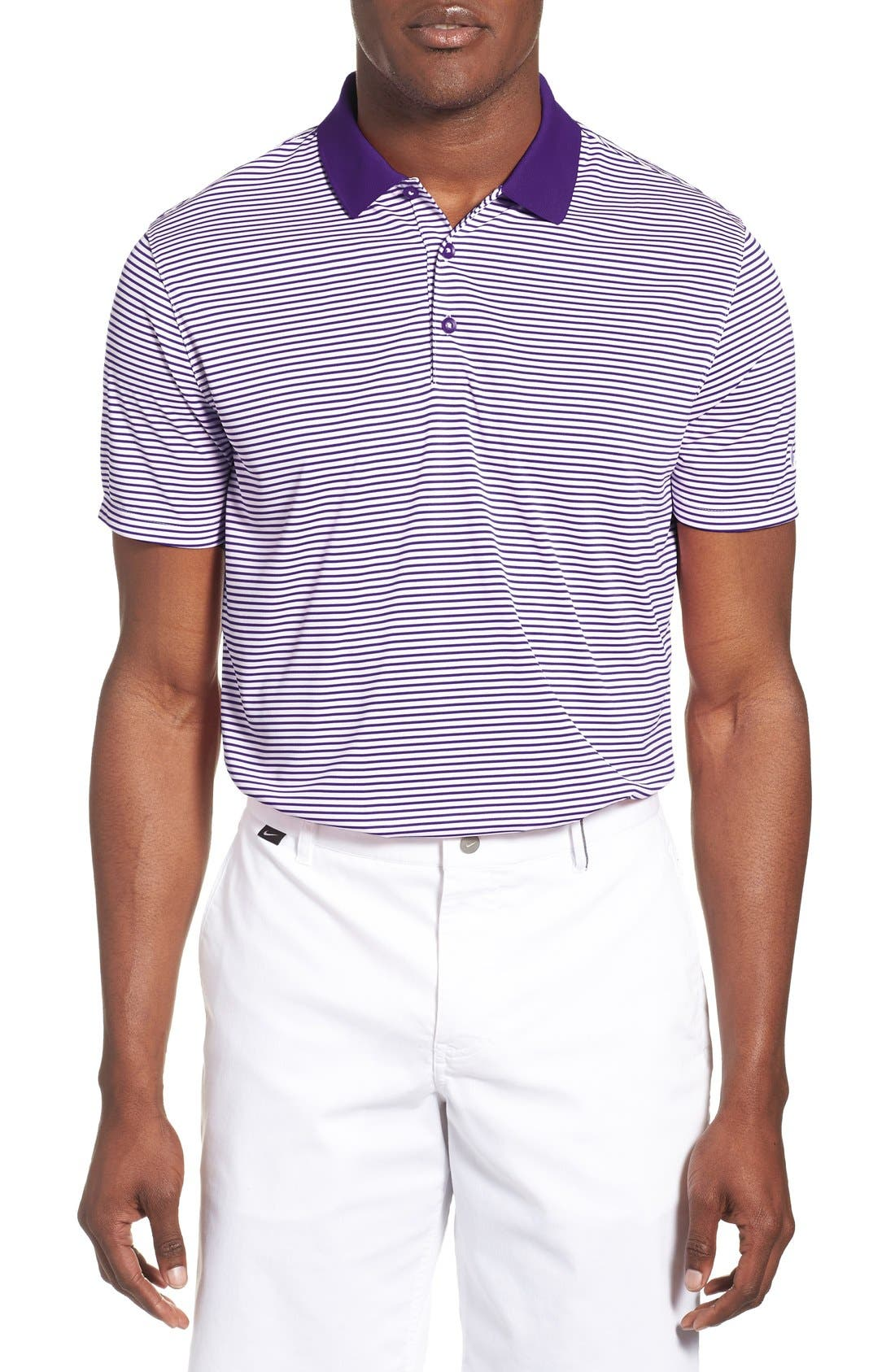 'Victory Stripe' Dri-FIT Golf Polo,                             Main thumbnail 7, color,