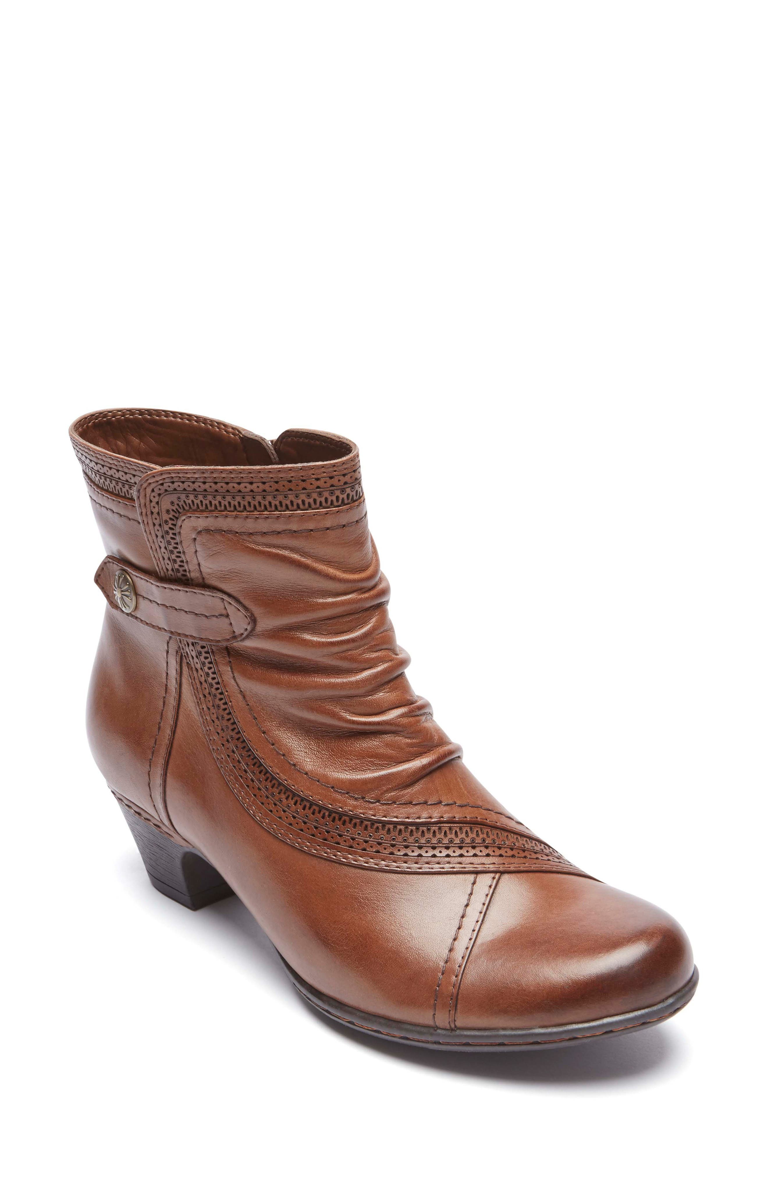 Abbott Panel Bootie, Main, color, ALMOND LEATHER