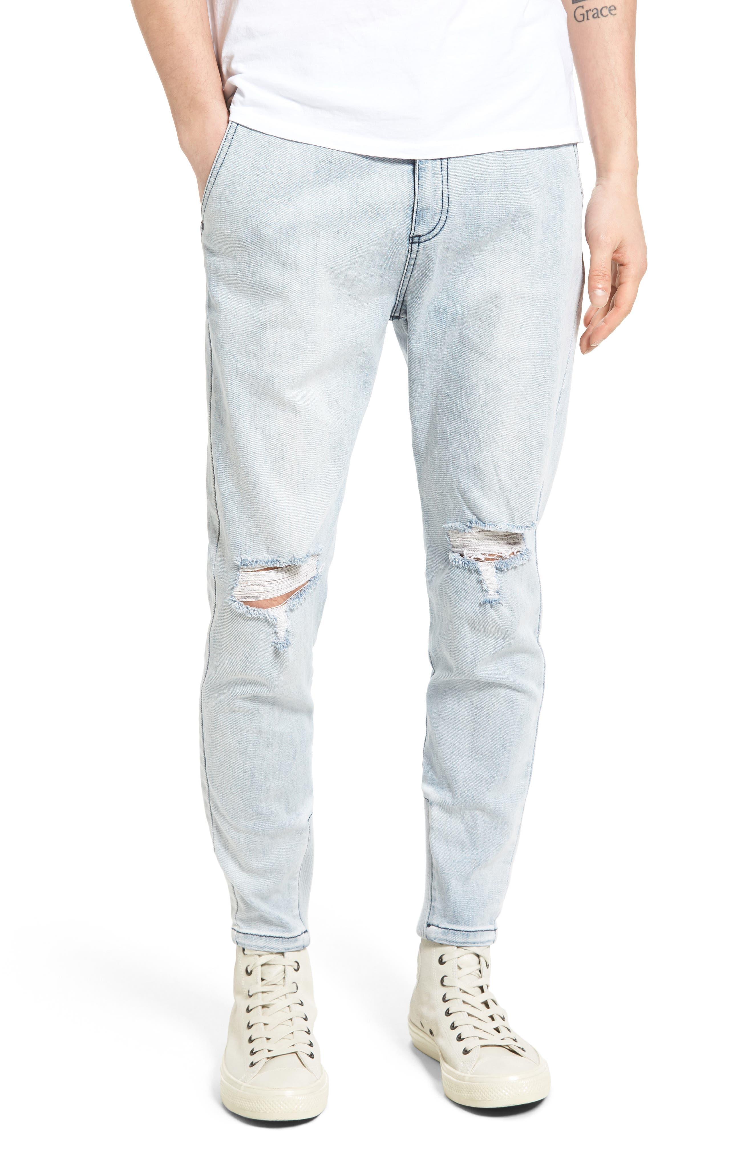 Sharpshot Slouchy Skinny Fit Denim Pants,                             Main thumbnail 2, color,