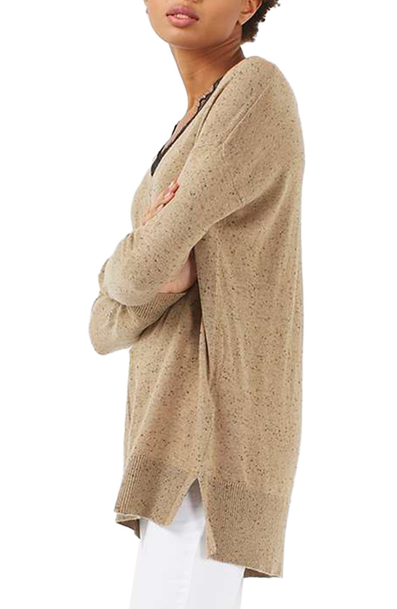 Lace V-Neck Sweater Tunic,                             Alternate thumbnail 4, color,                             230
