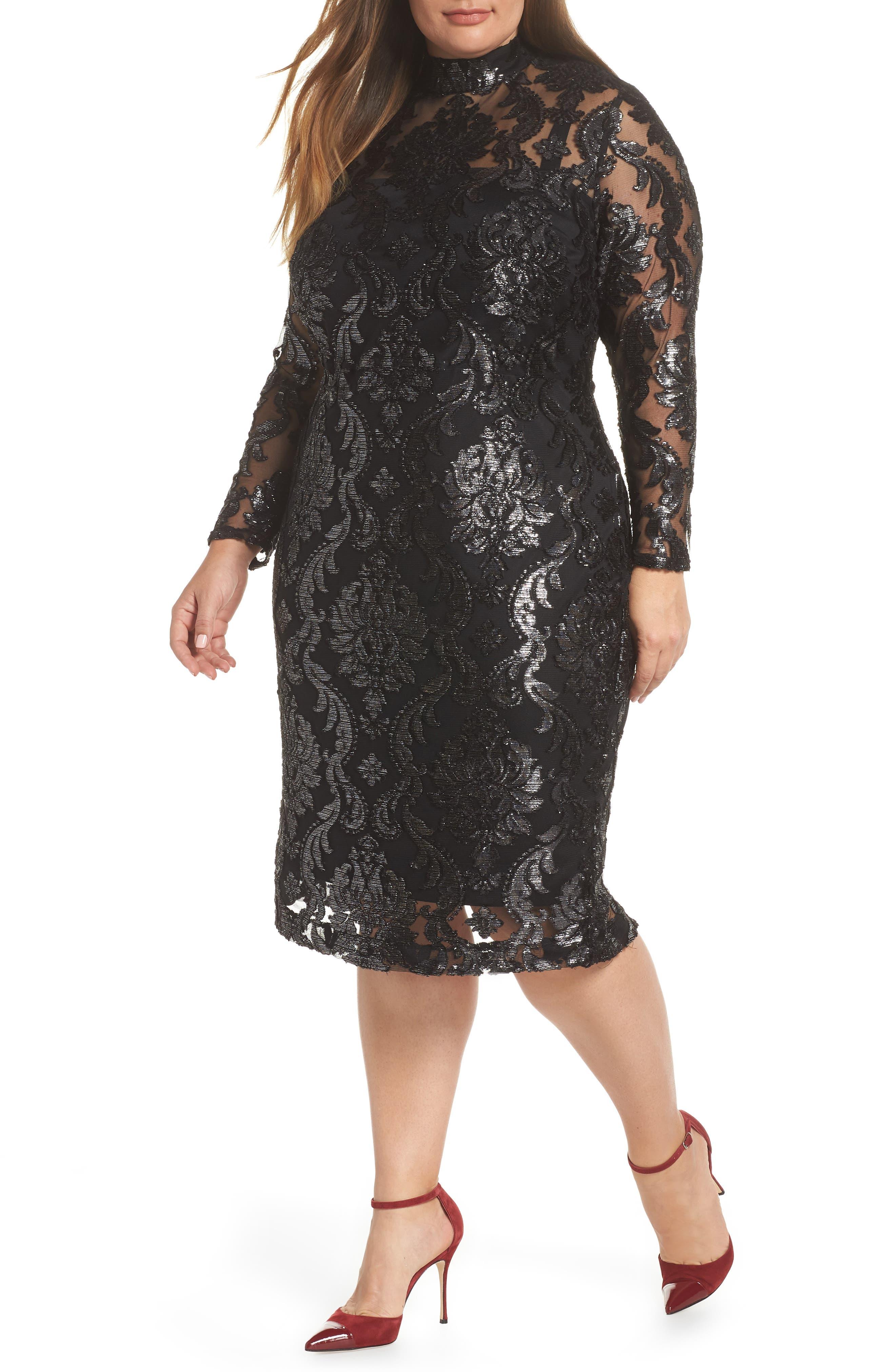 Plus Size Rachel Rachel Roy Metallic Overlay Dress