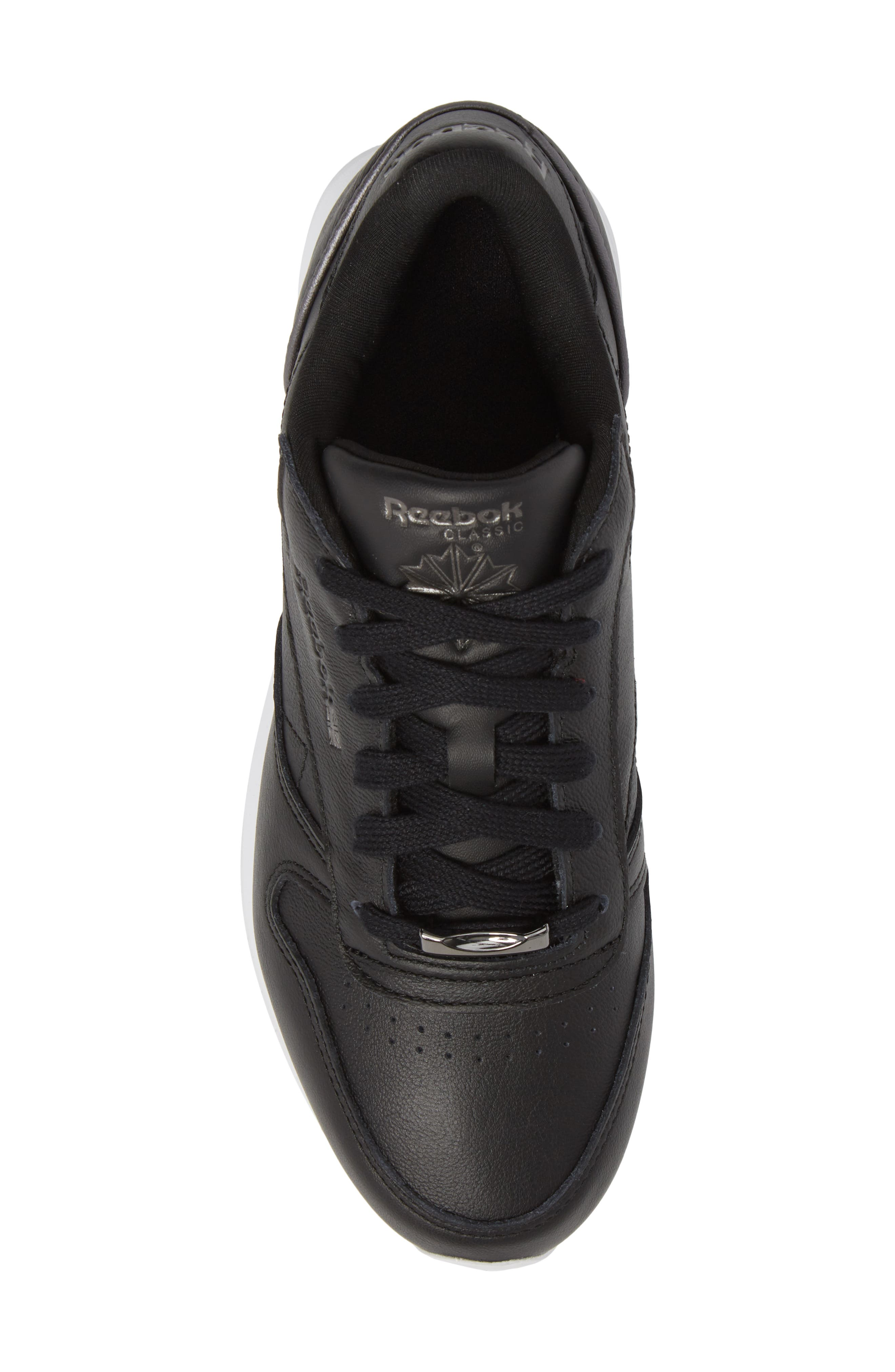 Classic Leather HW Sneaker,                             Alternate thumbnail 5, color,                             001