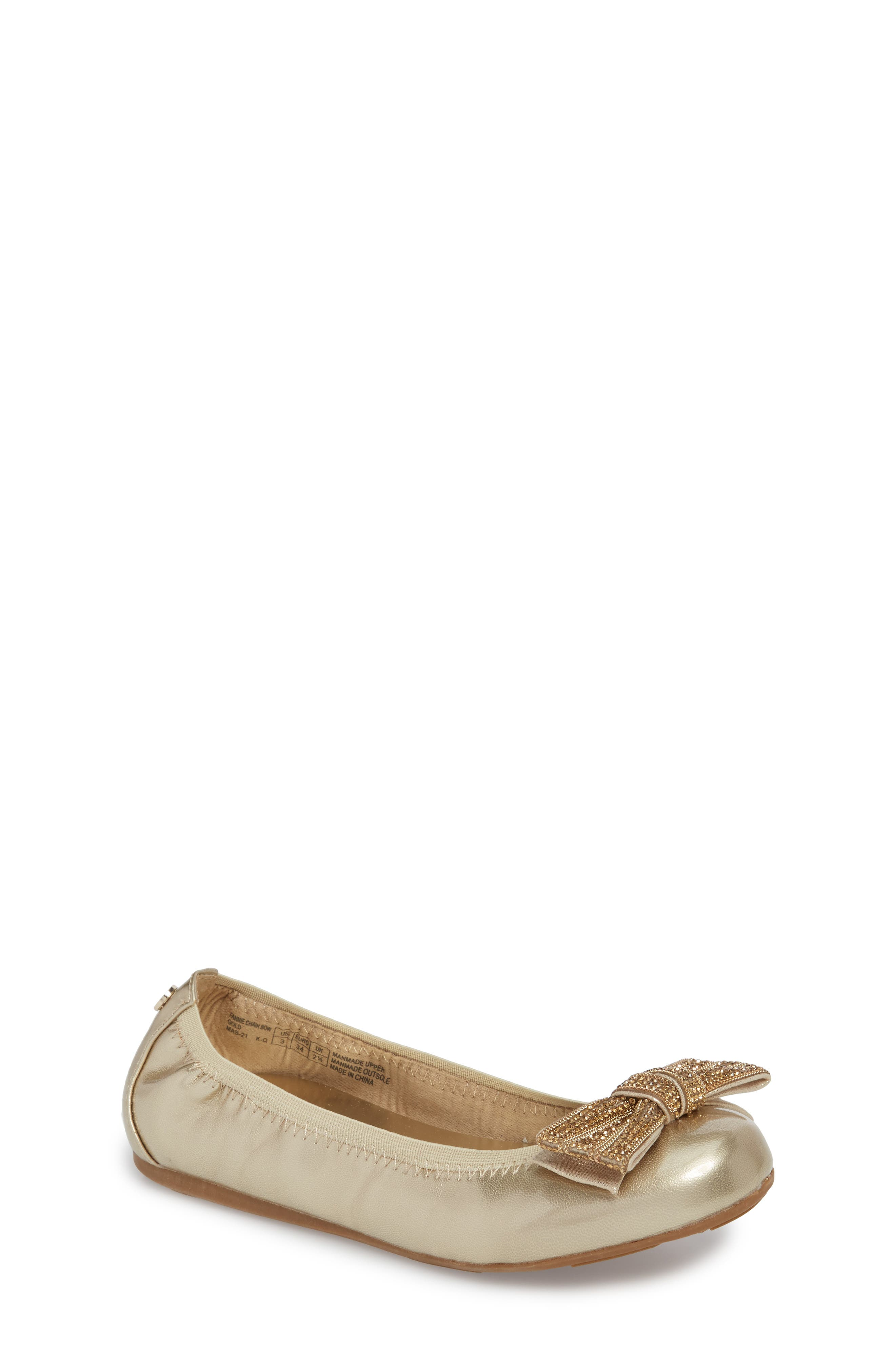 Fannie Embellished Bow Ballet Flat,                             Main thumbnail 3, color,
