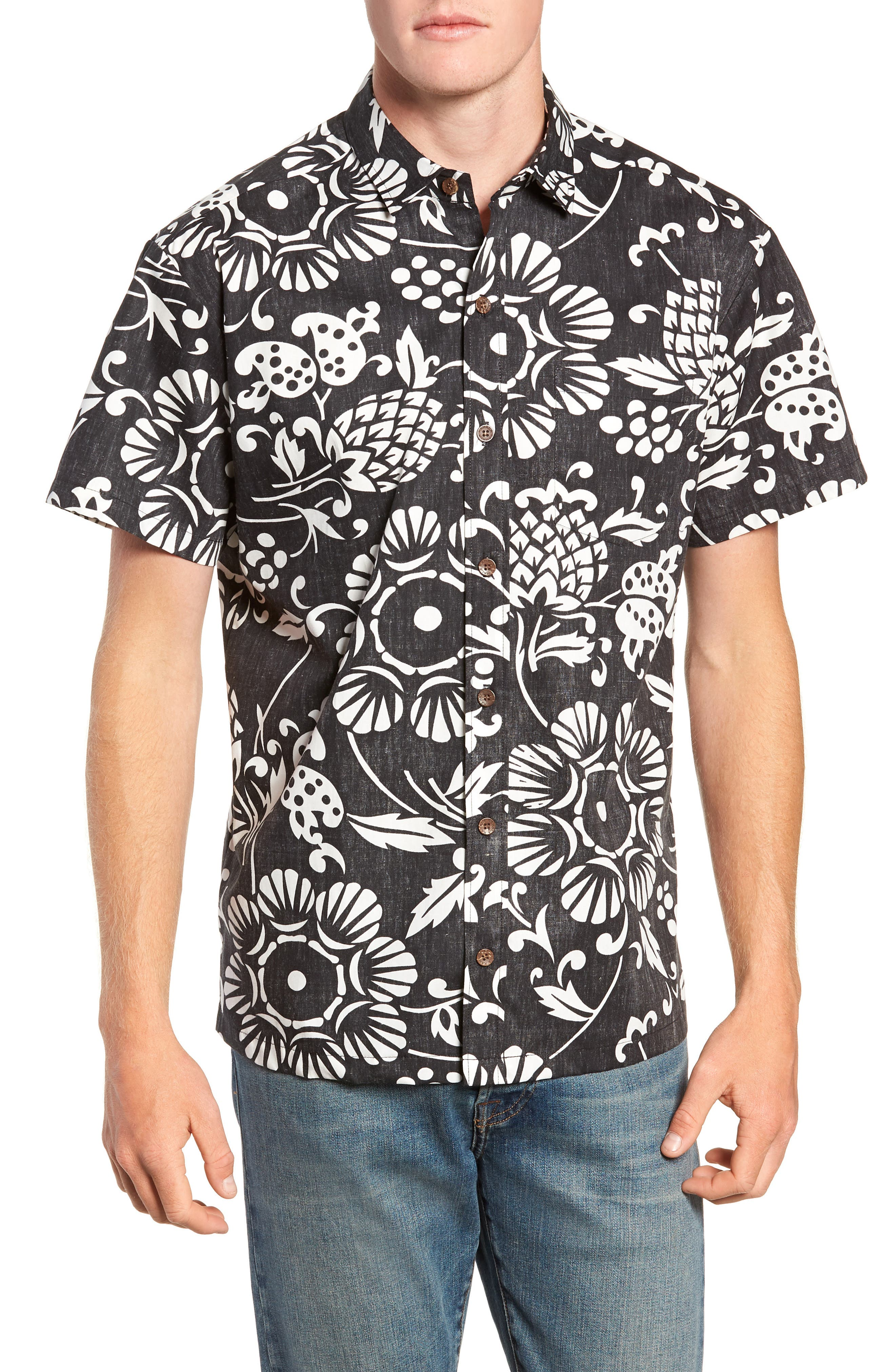 Duke's Pareo Trim Fit Sport Shirt,                         Main,                         color, 001