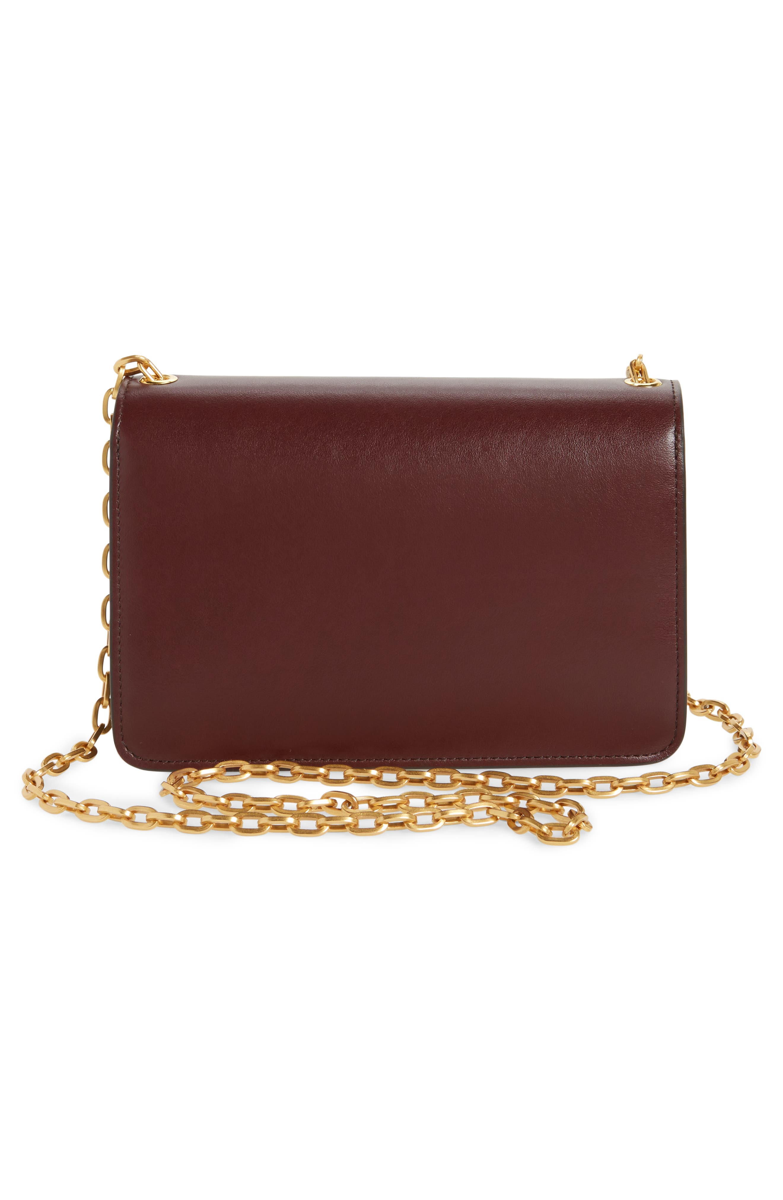 Multiflap Calfskin Leather Clutch,                             Alternate thumbnail 6, color,