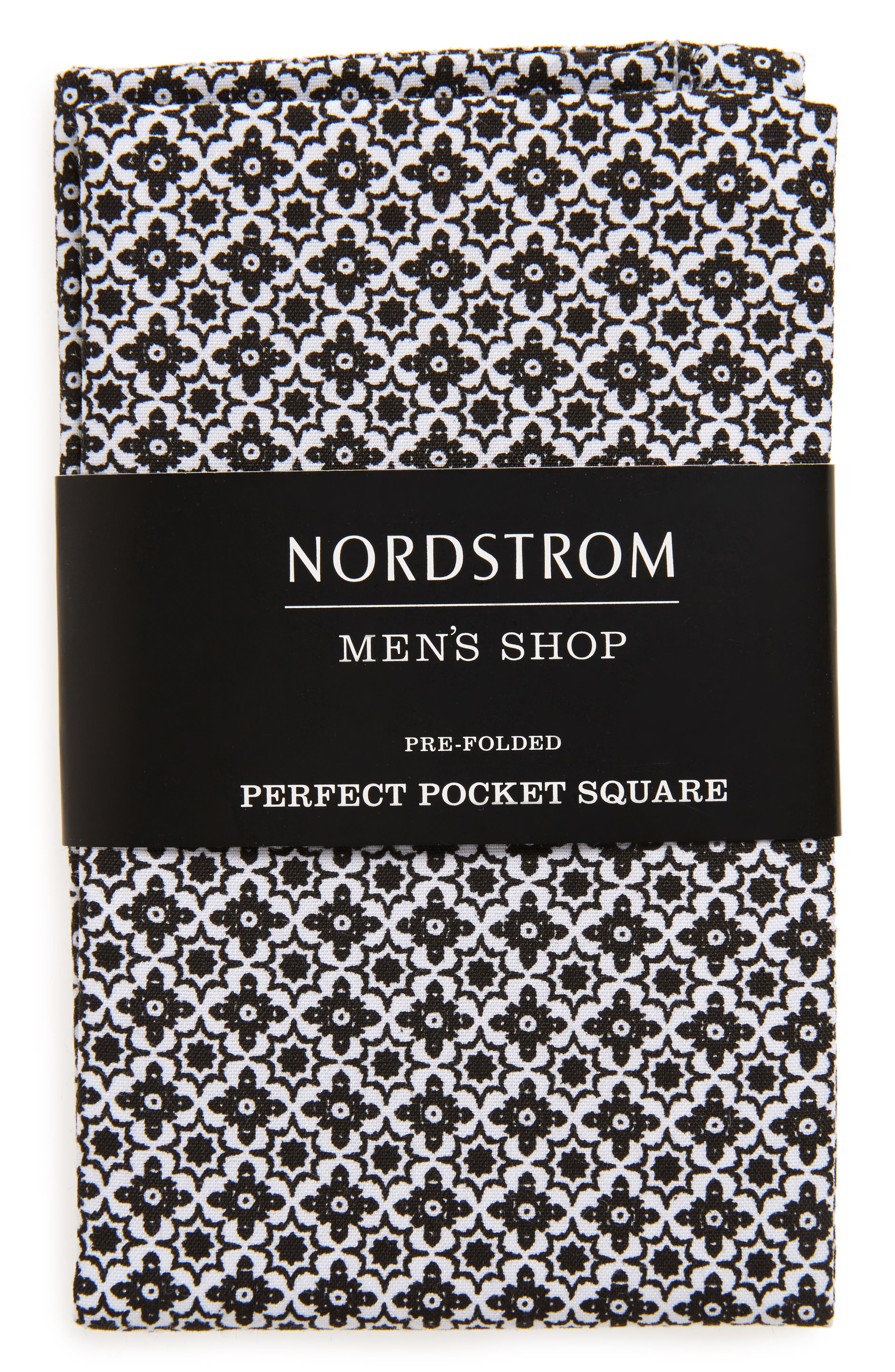NORDSTROM MEN'S SHOP,                             The Perfect Pre-Folded Pocket Square,                             Main thumbnail 1, color,                             005