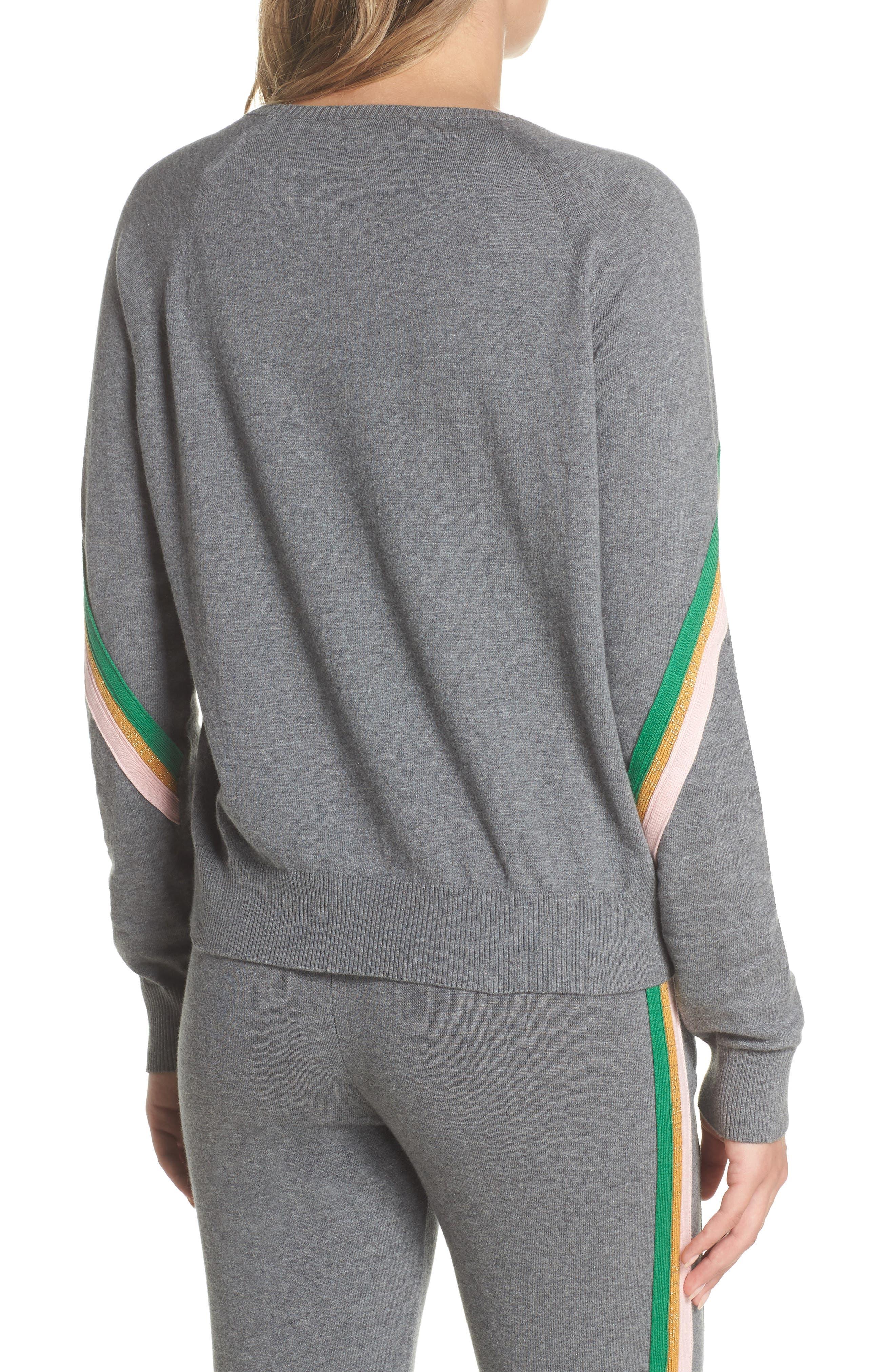 Rainbow Stripe Sweatshirt,                             Alternate thumbnail 2, color,