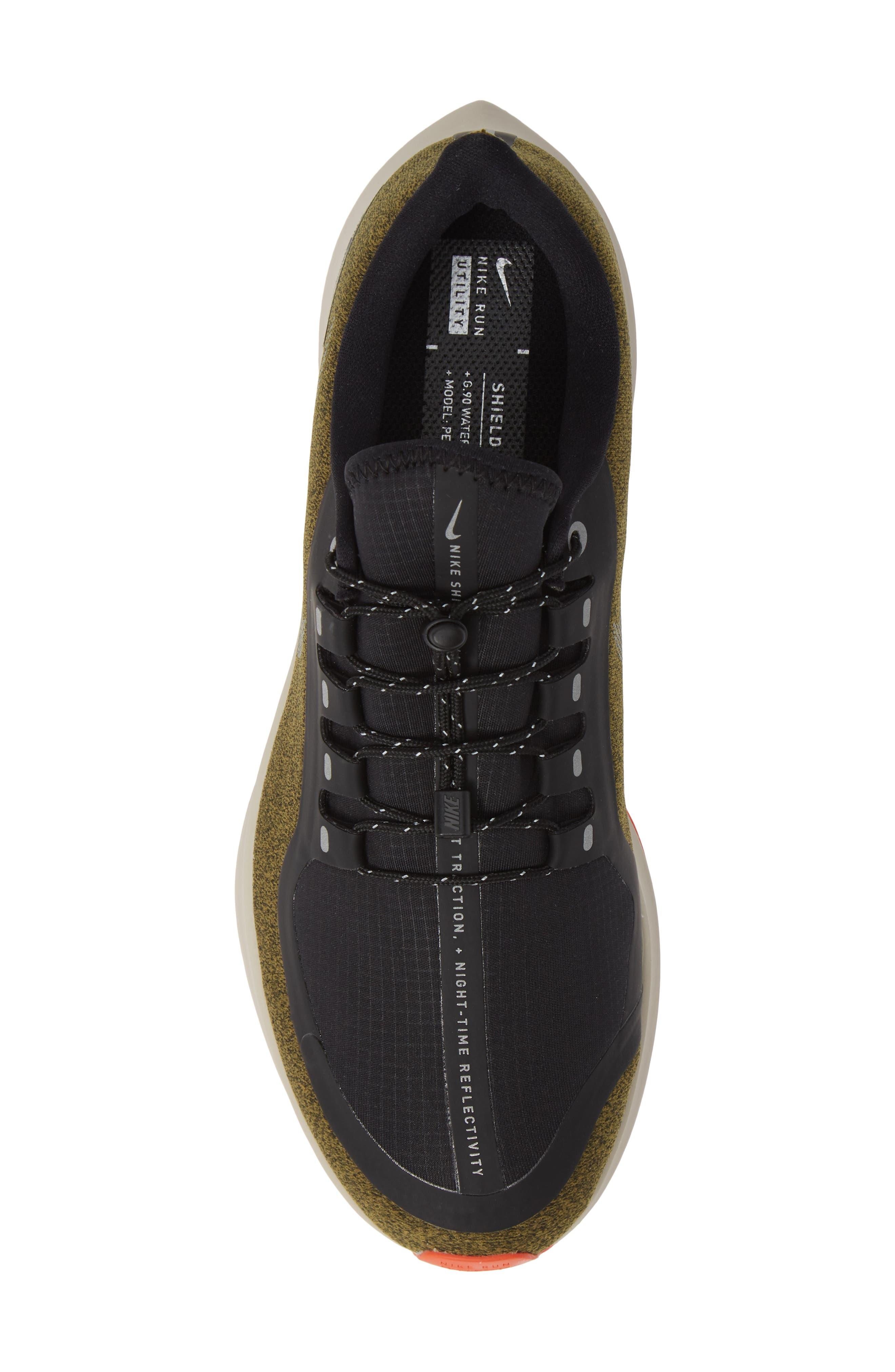 Air Zoom Pegasus 35 Shield Water Repellent Running Shoe,                             Alternate thumbnail 5, color,                             OLIVE/ METALLIC SILVER/ BLACK