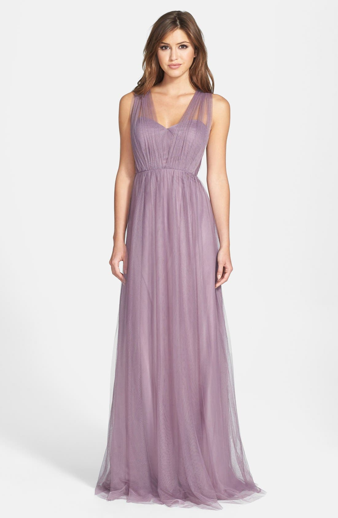 Annabelle Convertible Tulle Column Dress,                             Alternate thumbnail 186, color,