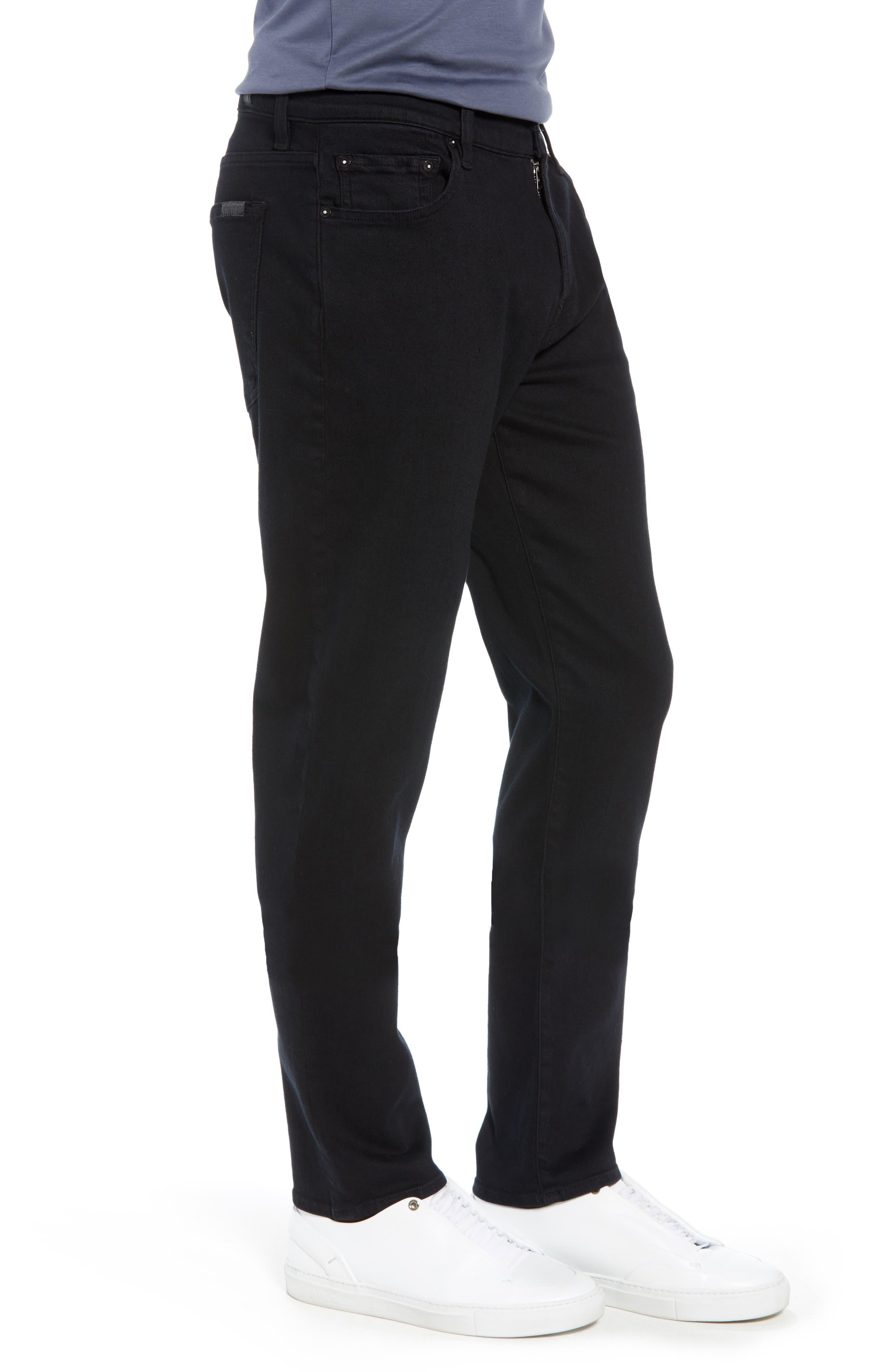 Adrien Slim Fit Straight Leg Jeans,                             Alternate thumbnail 3, color,                             AUTHENTIC BLACK