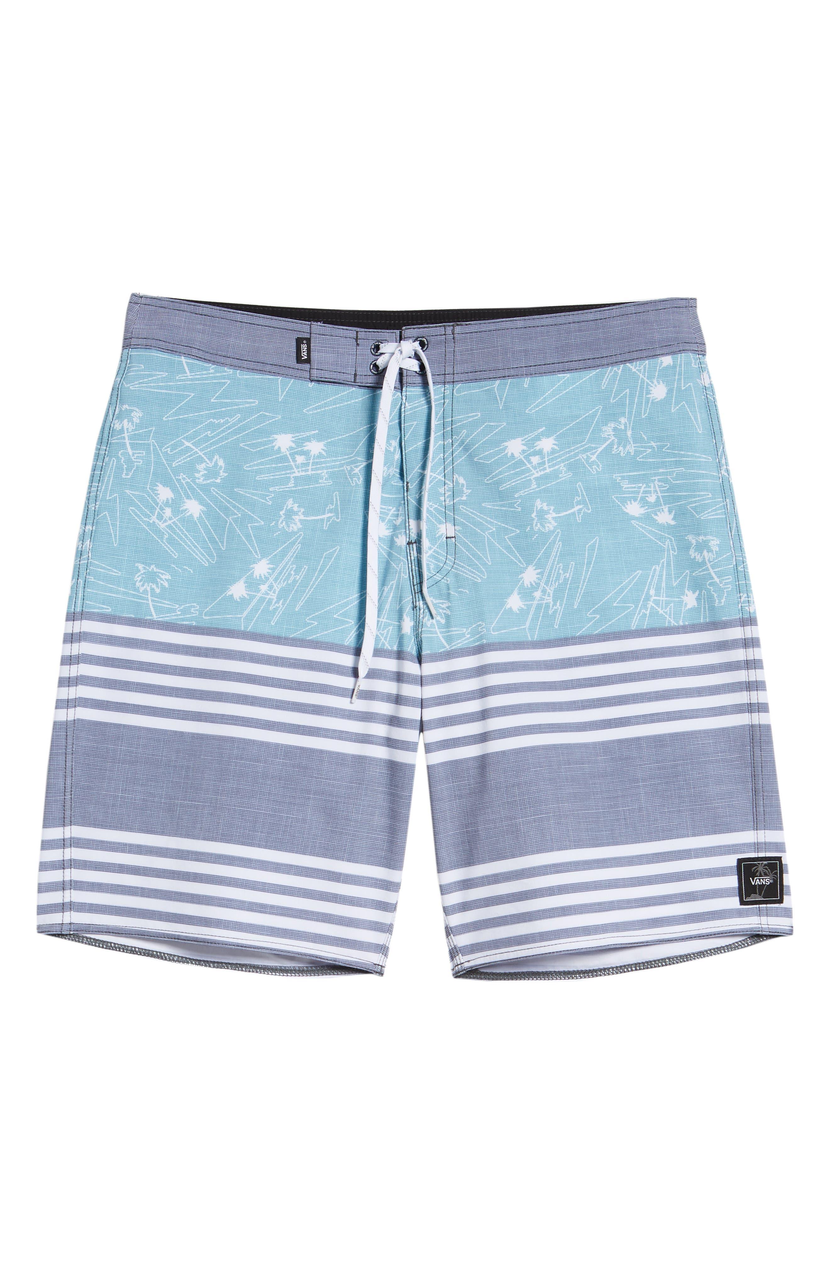 Era Board Shorts,                             Alternate thumbnail 6, color,                             DRESS BLUES ISLAND BEACH