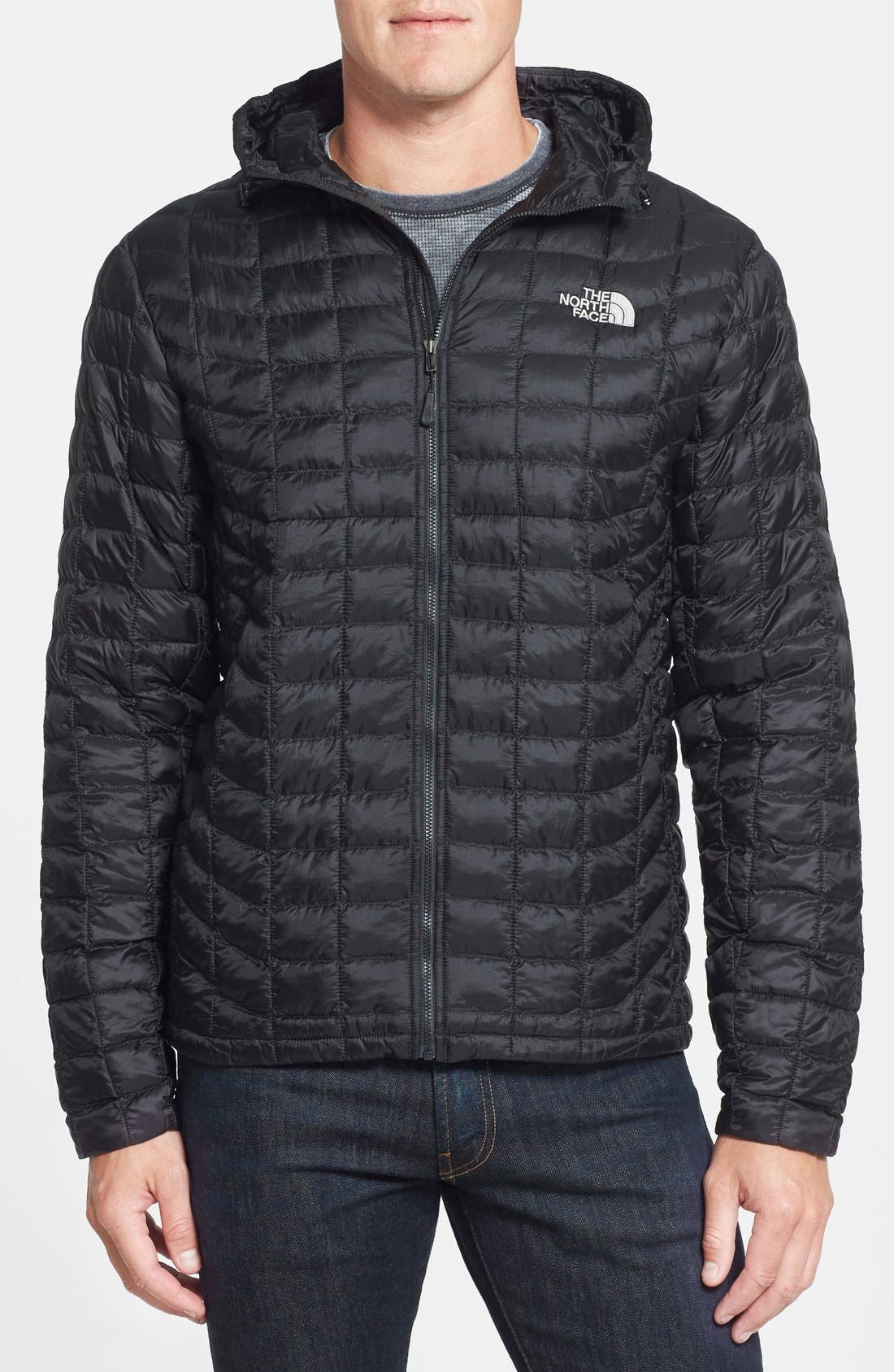 'ThermoBall<sup>™</sup>' PrimaLoft<sup>®</sup> Hoodie Jacket,                         Main,                         color, 001