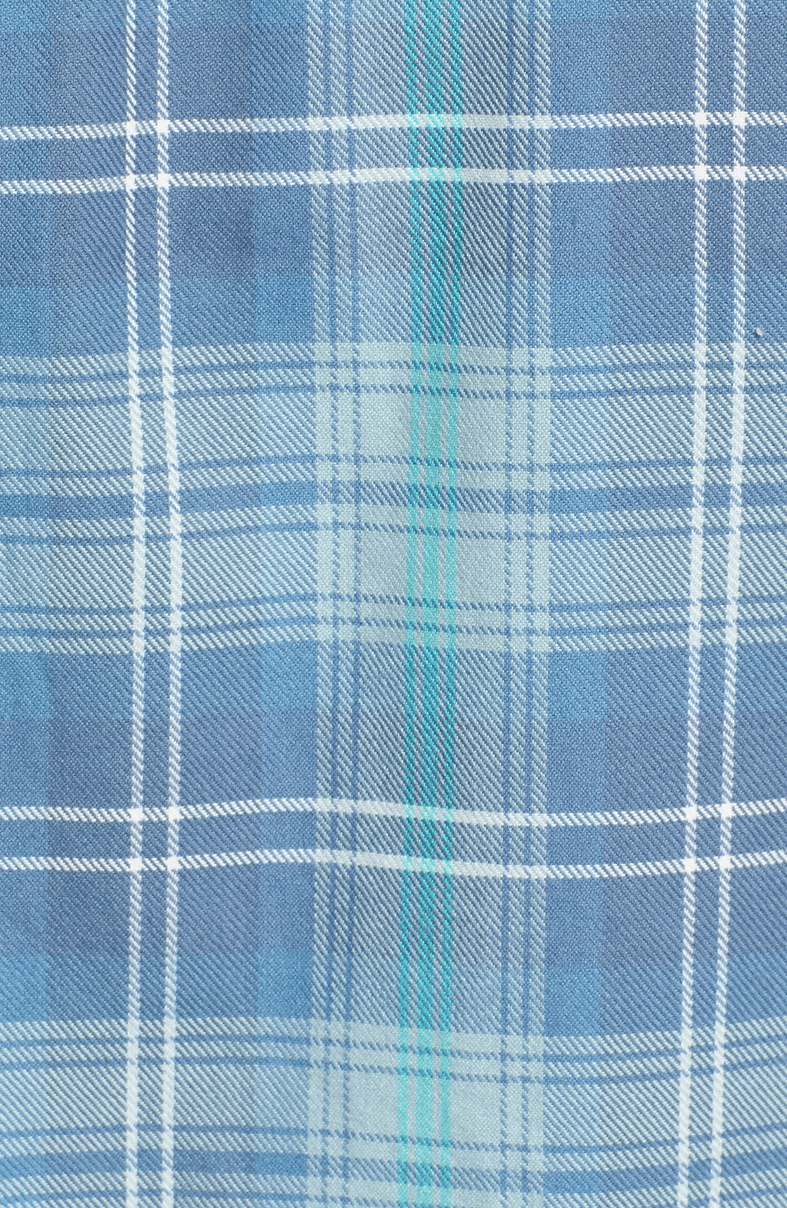 Slim Fit Plaid Flannel Sport Shirt,                             Alternate thumbnail 5, color,                             400