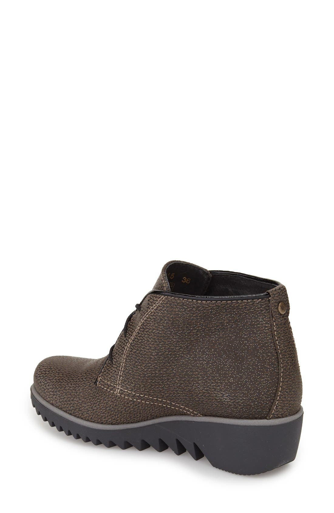 'Dusty' Hidden Wedge Bootie,                             Alternate thumbnail 2, color,                             TAUPE MALIBU SUEDE