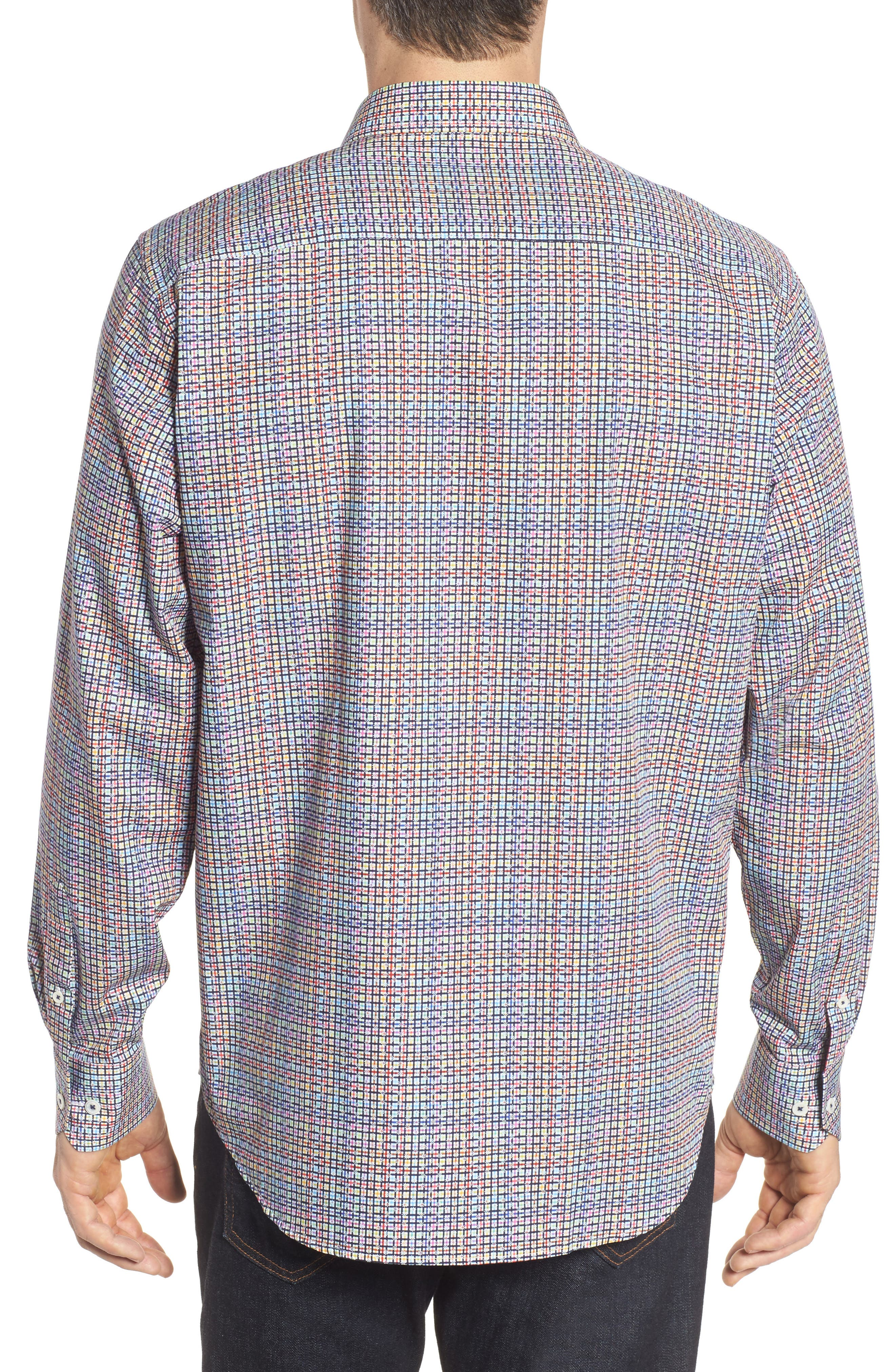 Classic Fit Plaid Sport Shirt,                             Alternate thumbnail 2, color,                             601