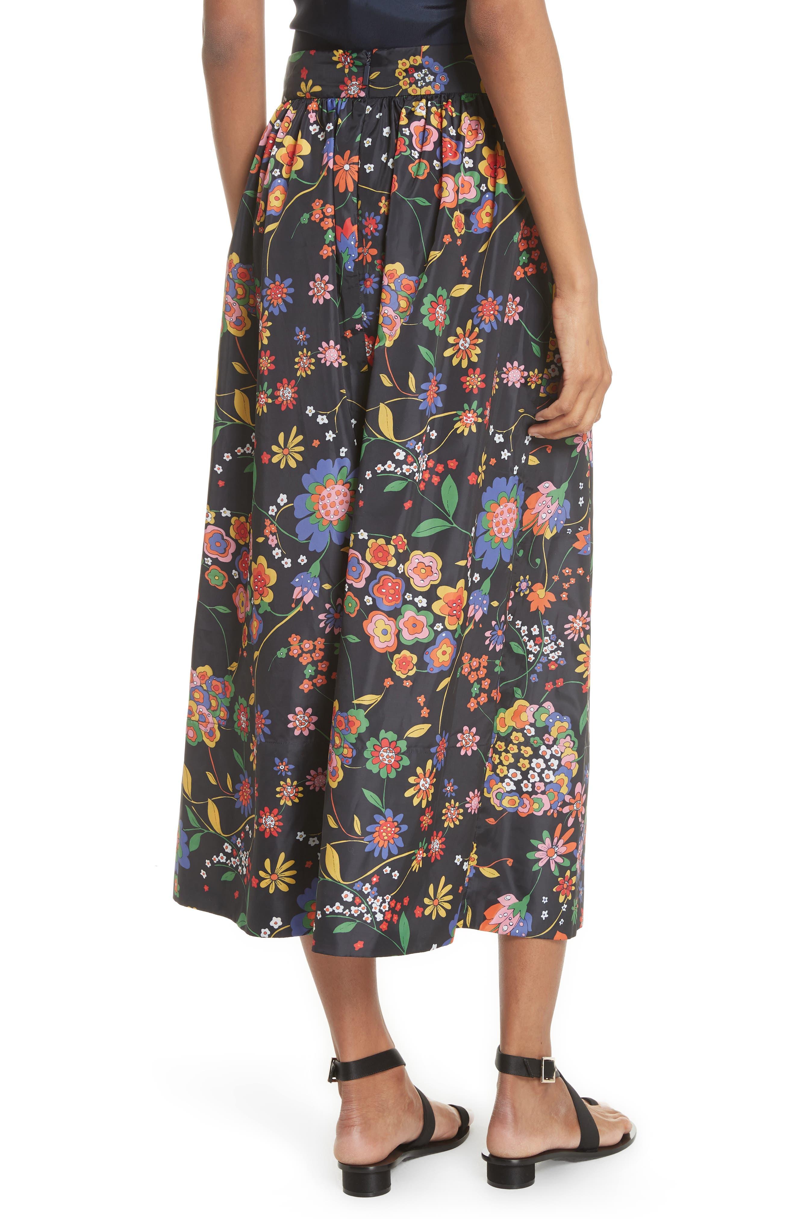 Print Tech Floral Skirt,                             Alternate thumbnail 2, color,                             402