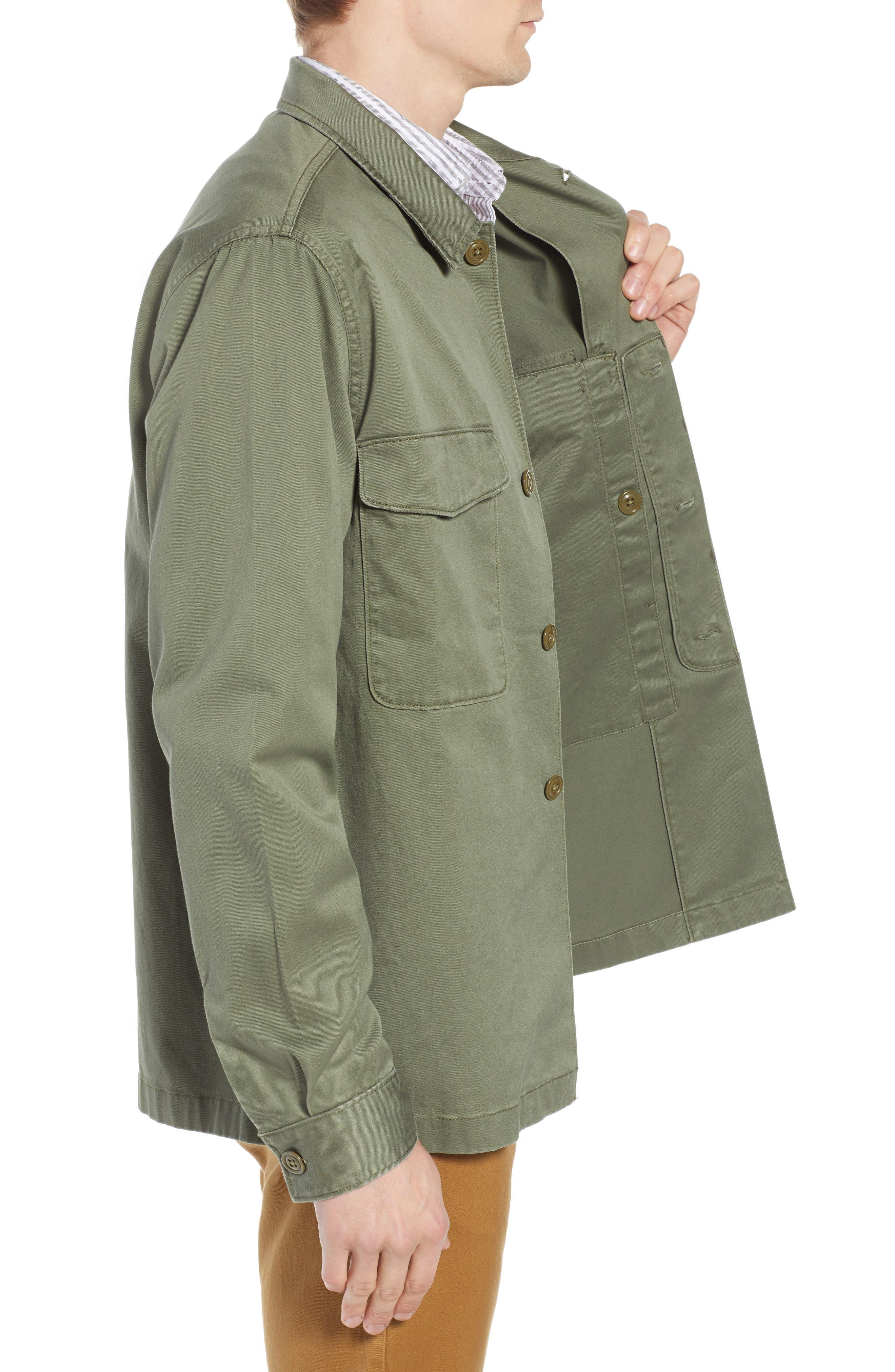 Regular Fit Military Shirt Jacket,                             Alternate thumbnail 3, color,                             SURPLUS OLIVE