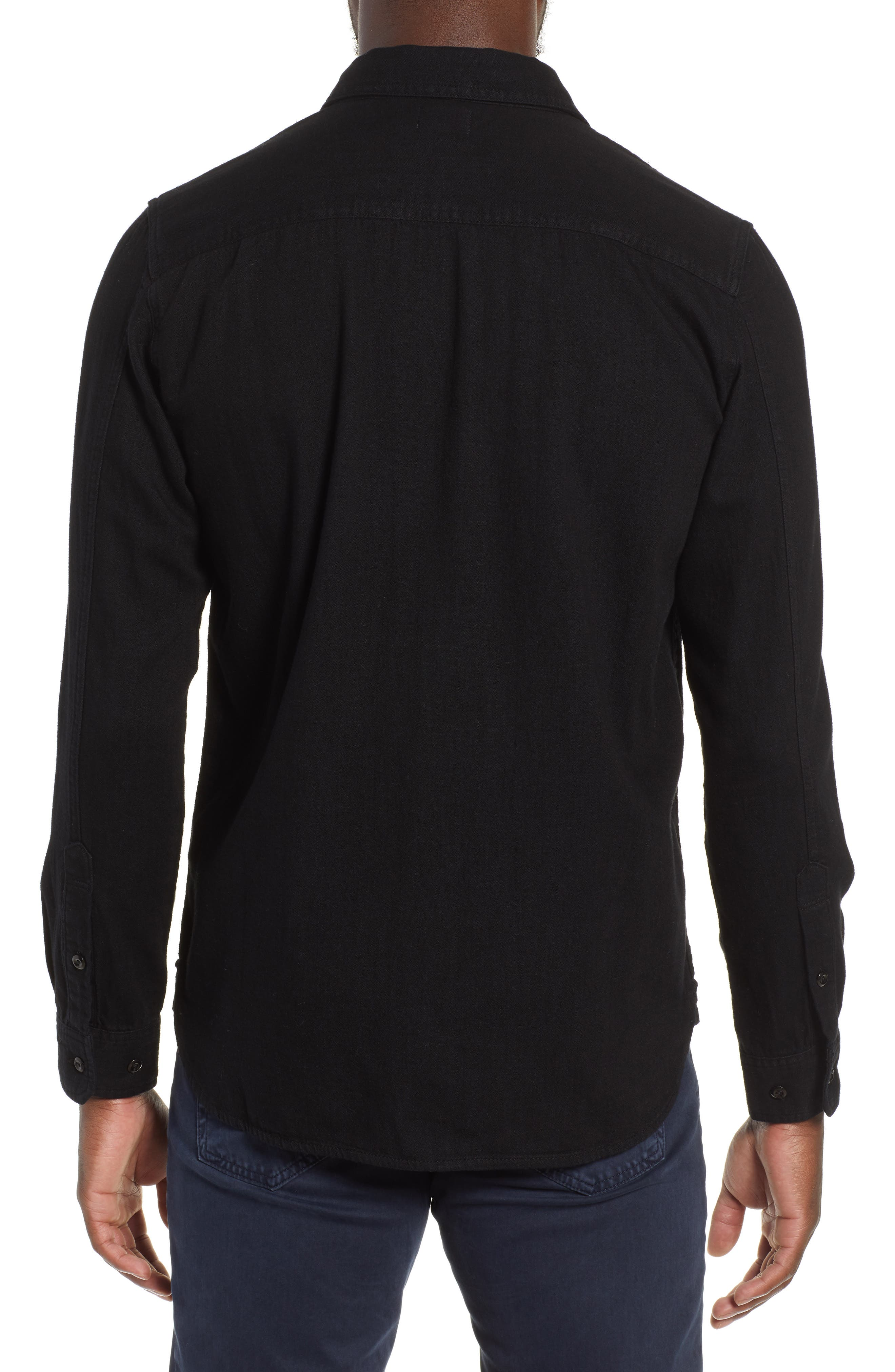 AG,                             Benning Slim Fit Utility Shirt,                             Alternate thumbnail 3, color,                             016