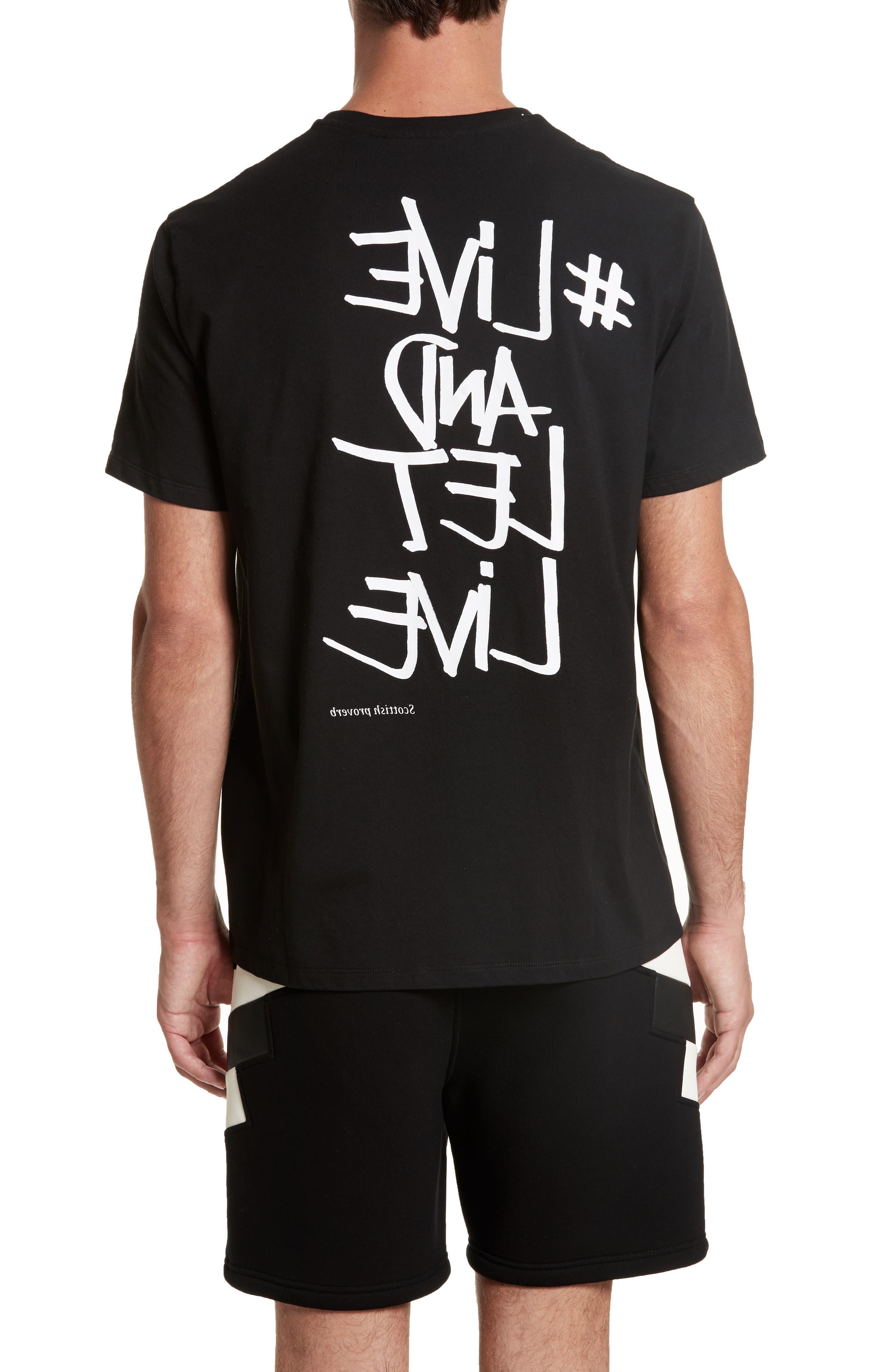 Live & Let Live Graphic T-Shirt,                             Alternate thumbnail 2, color,                             001