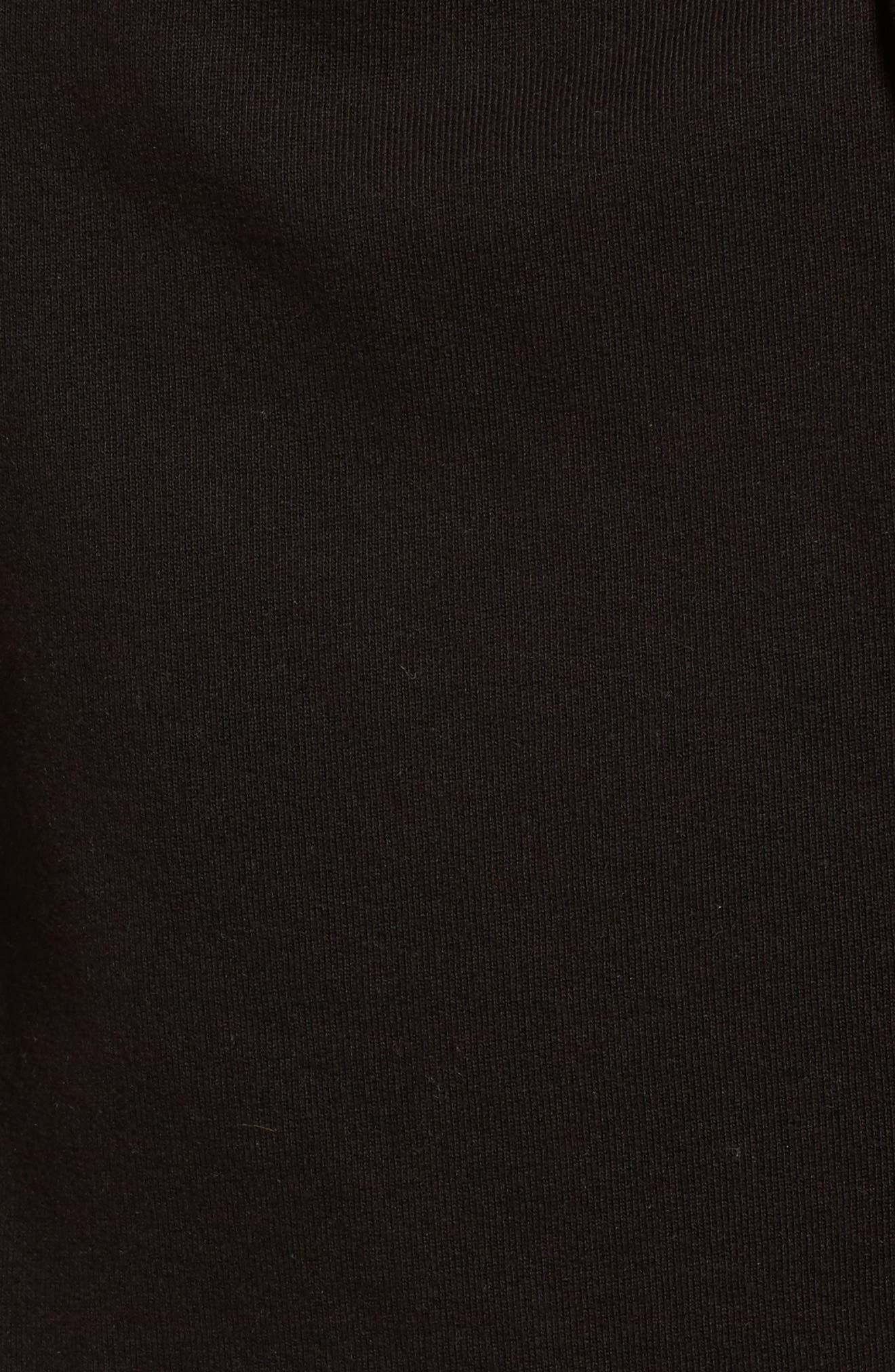 Moto Fleece Jacket,                             Alternate thumbnail 5, color,                             005